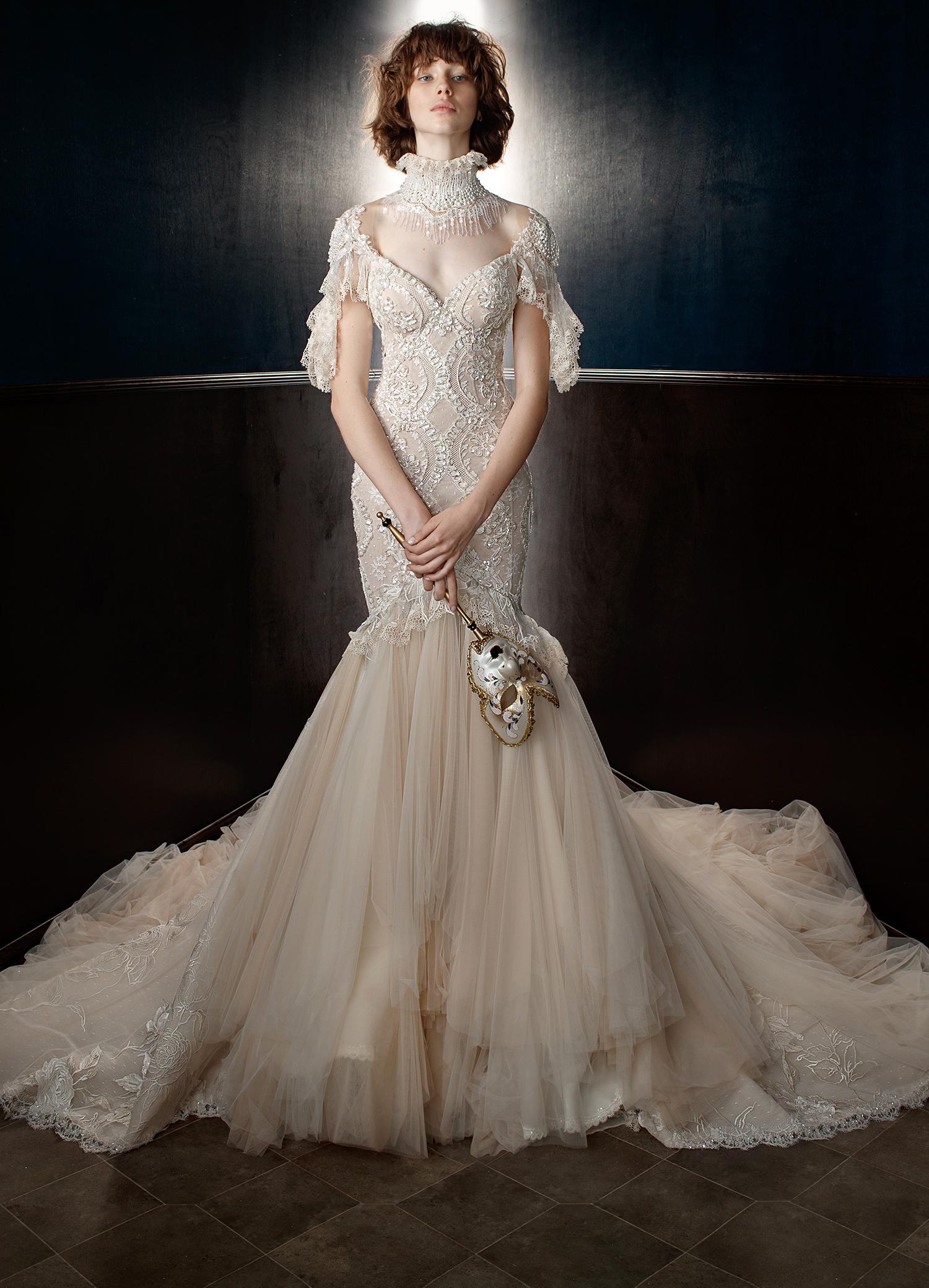 galia lahav wedding dress spring 2018 lace mermaid v-neck