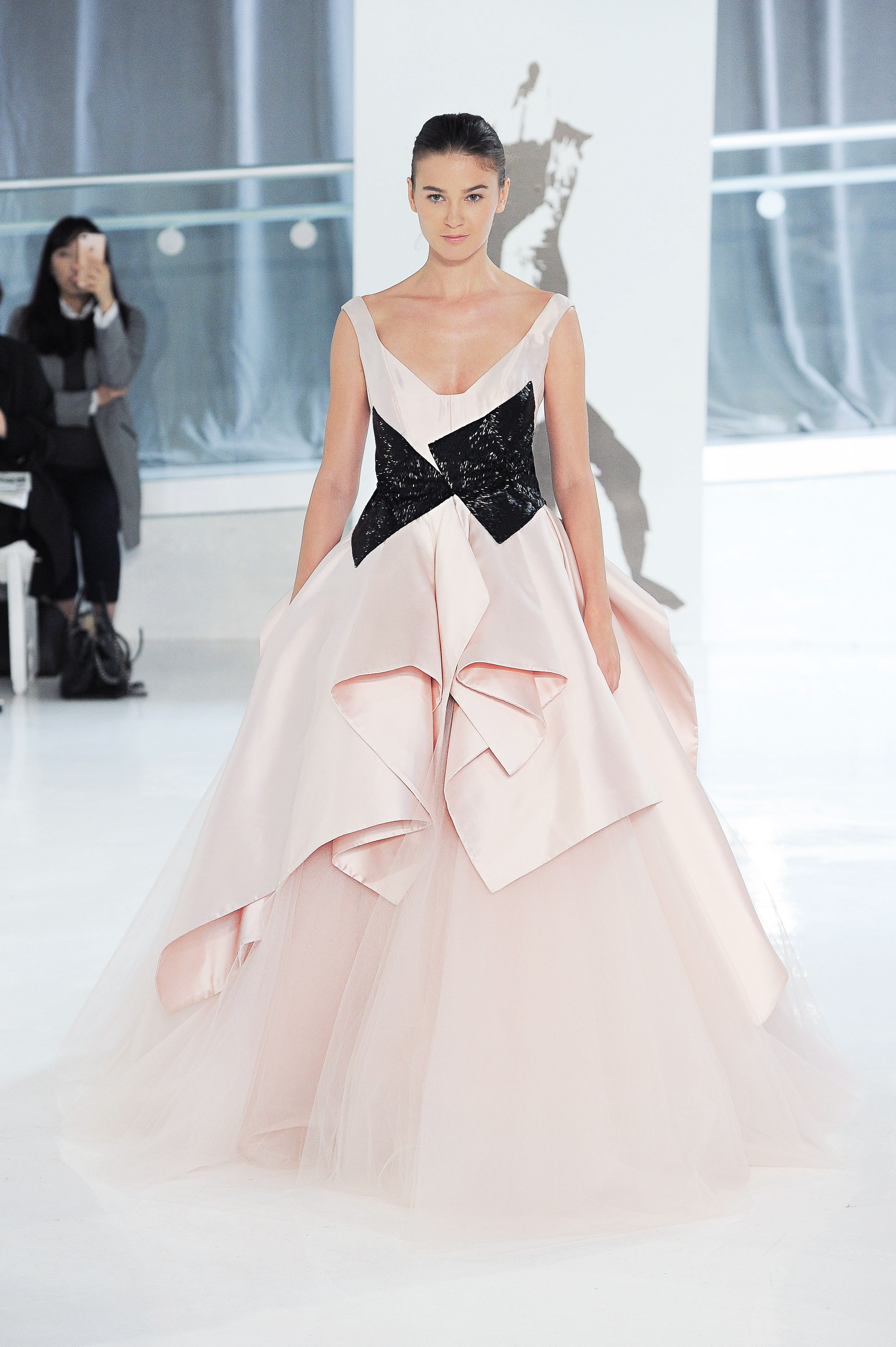 pink peter langner wedding dress spring 2018