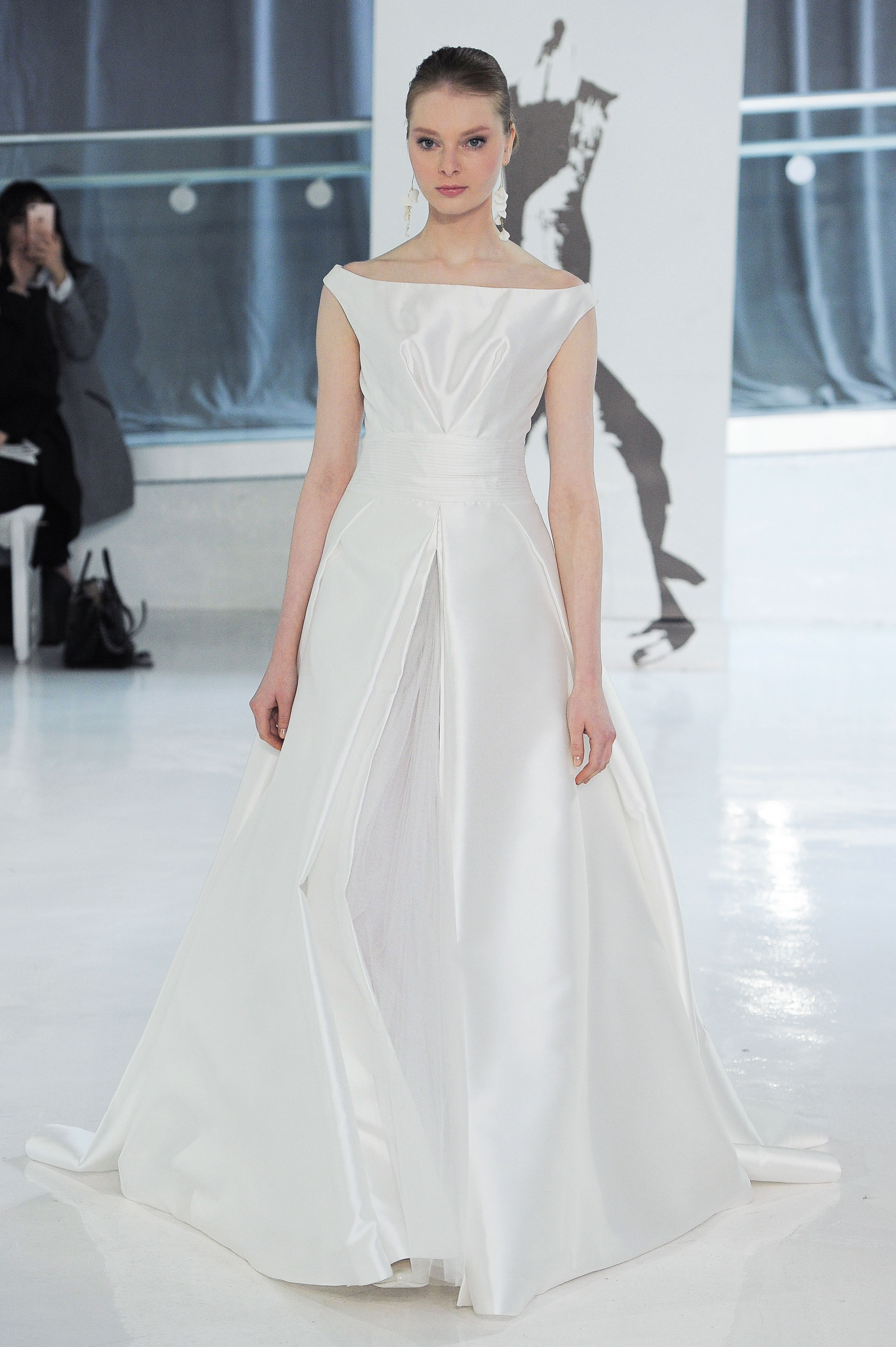 off the shoulder peter langner wedding dress spring 2018