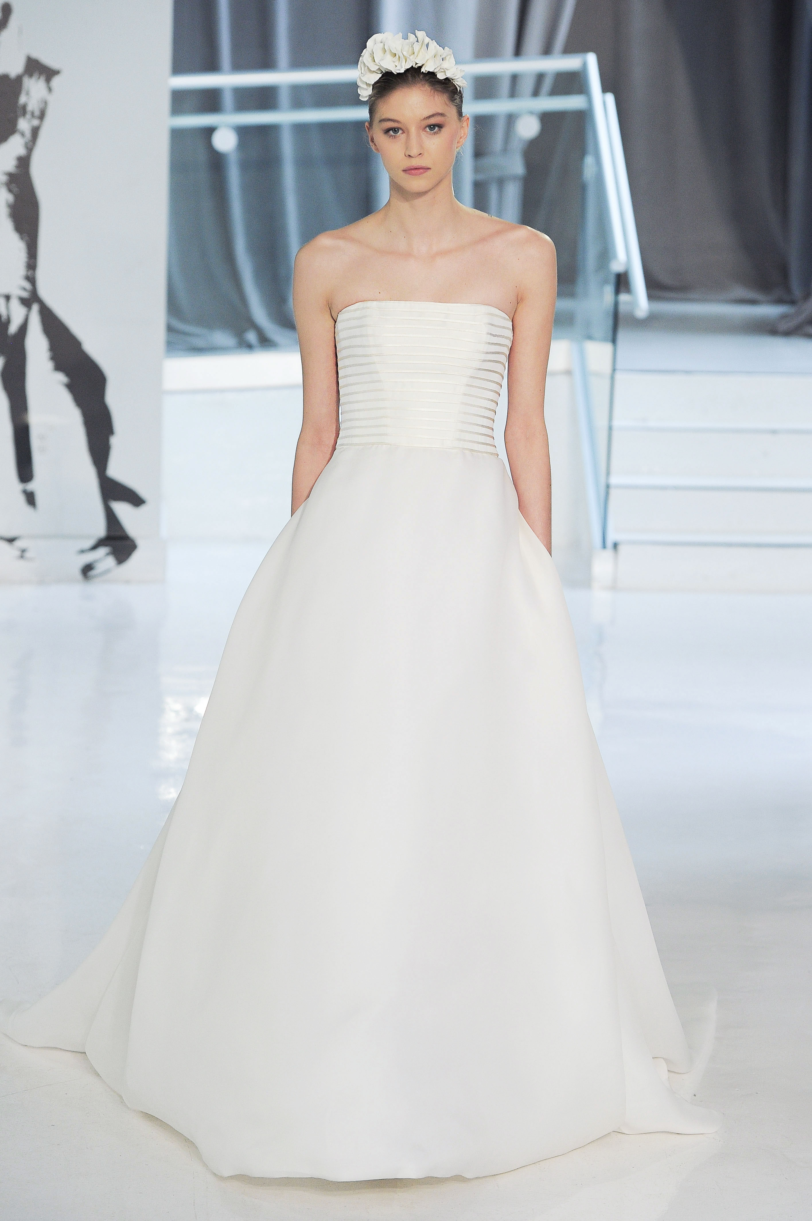 no shoulder peter langner wedding dress spring 2018