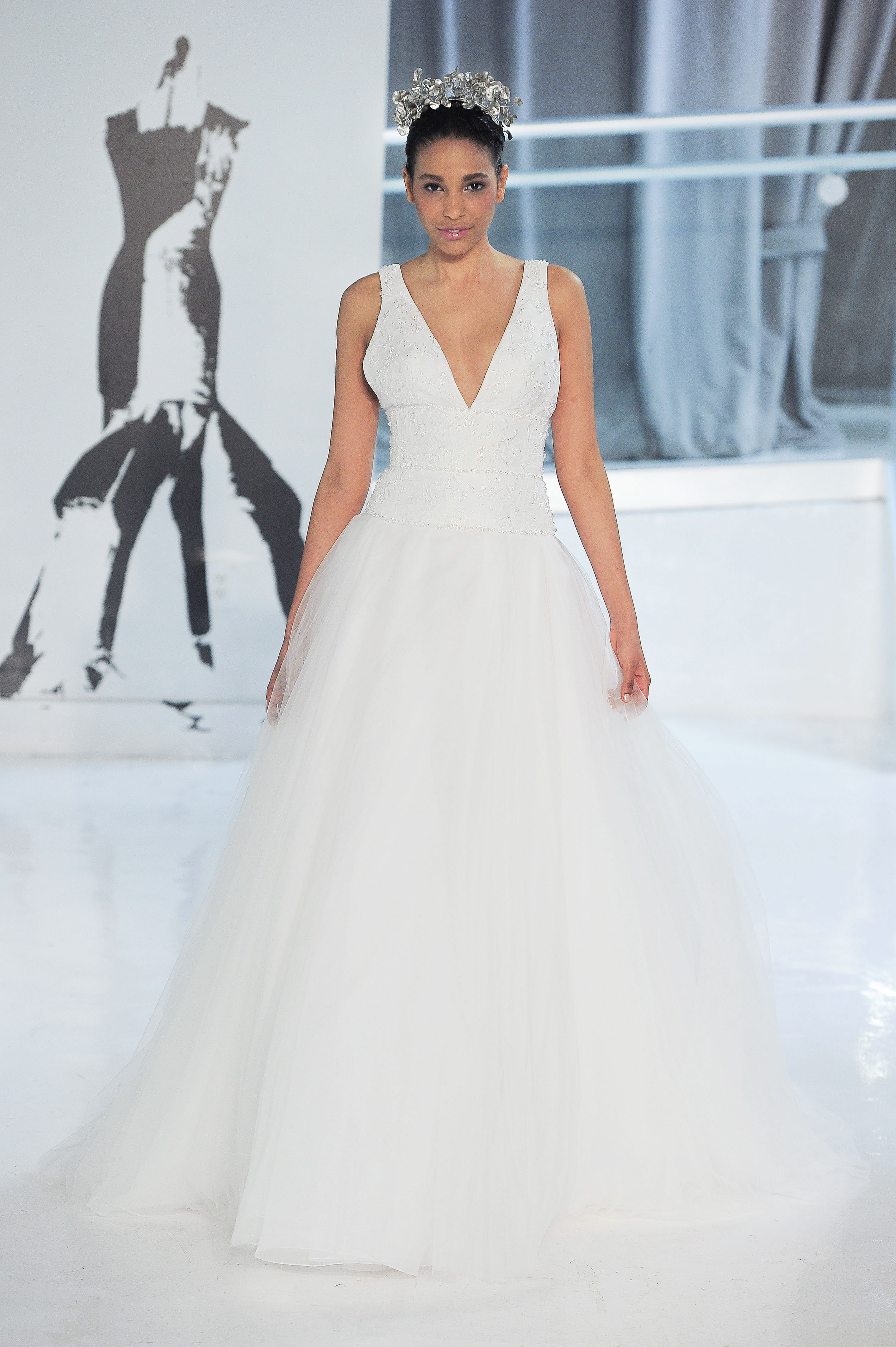v-neck peter langner wedding dress spring 2018