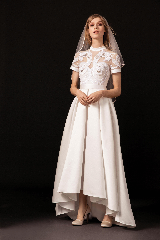 temperley collar cap sleeve wedding dress spring 2018