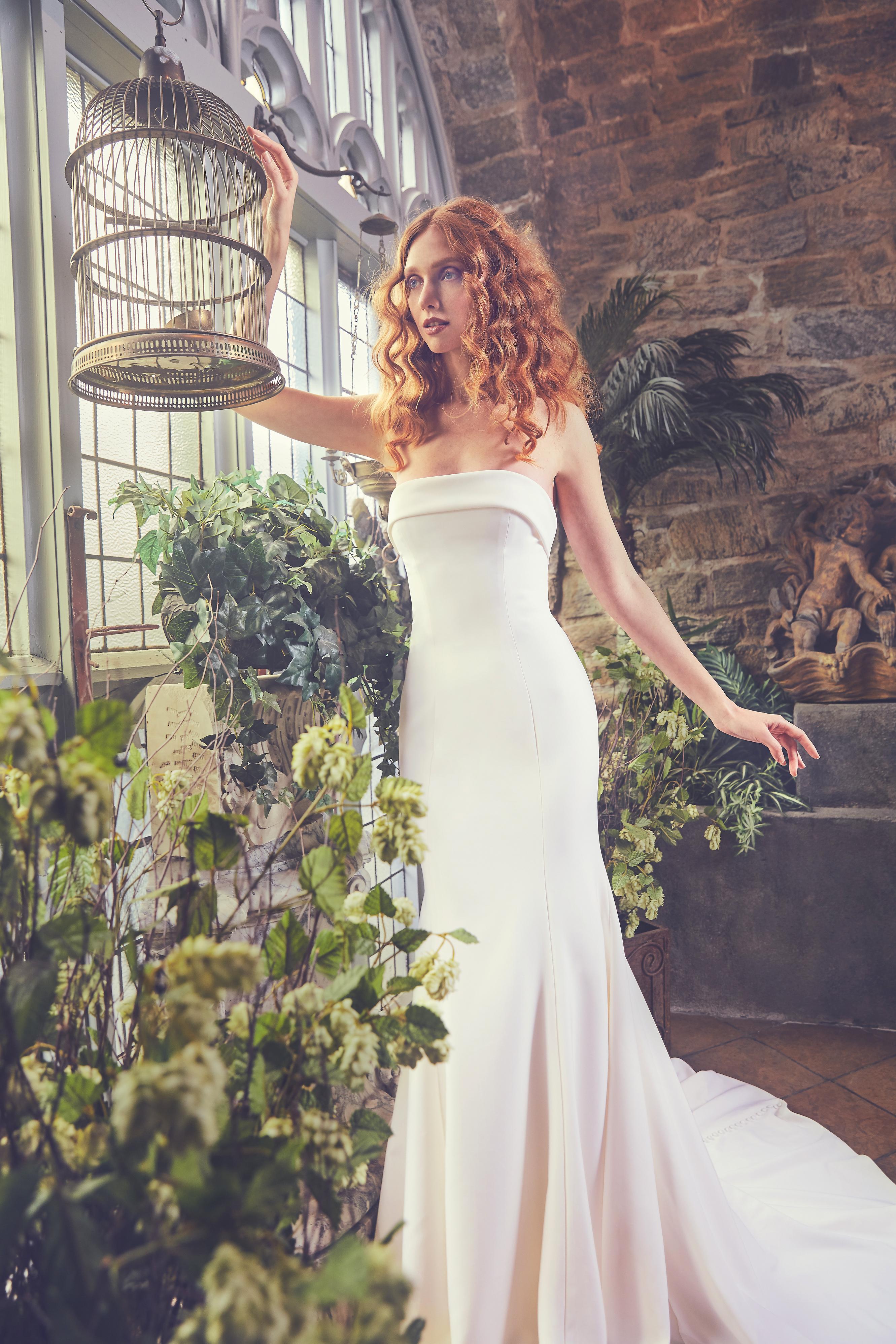 Strapless Sareh Nouri Mermaid Wedding Dress Spring 2018
