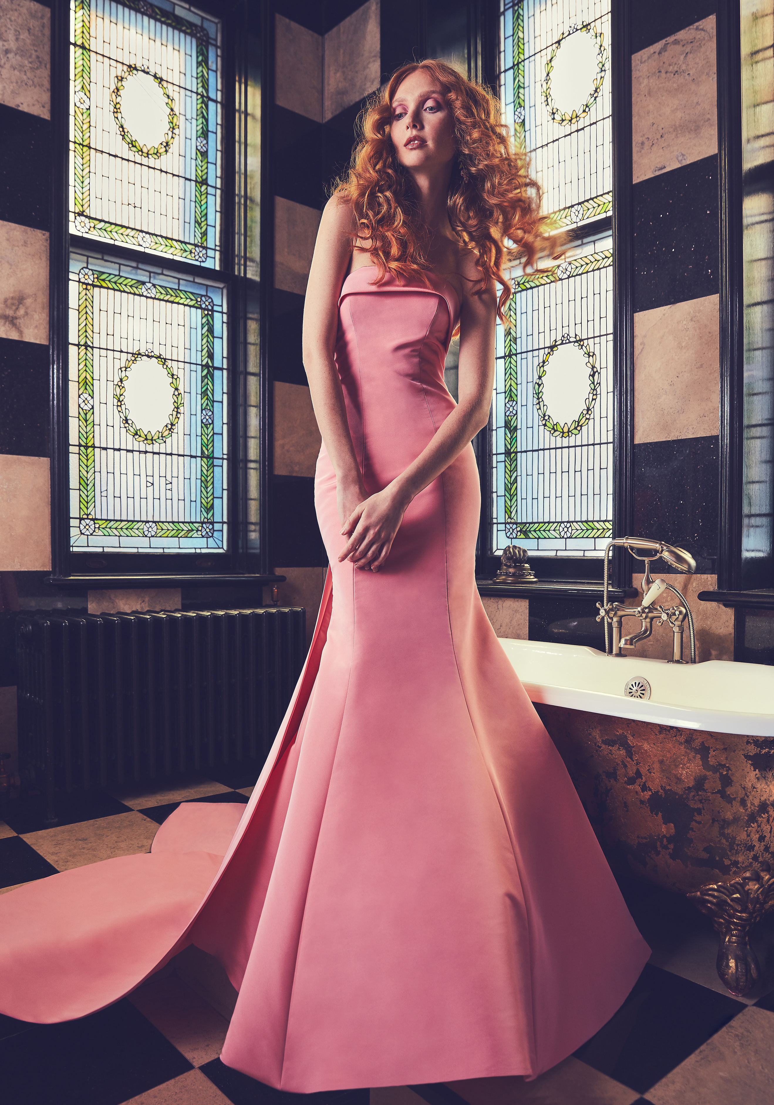 Pink Sareh Nouri Mermaid Wedding Dress Spring 2018
