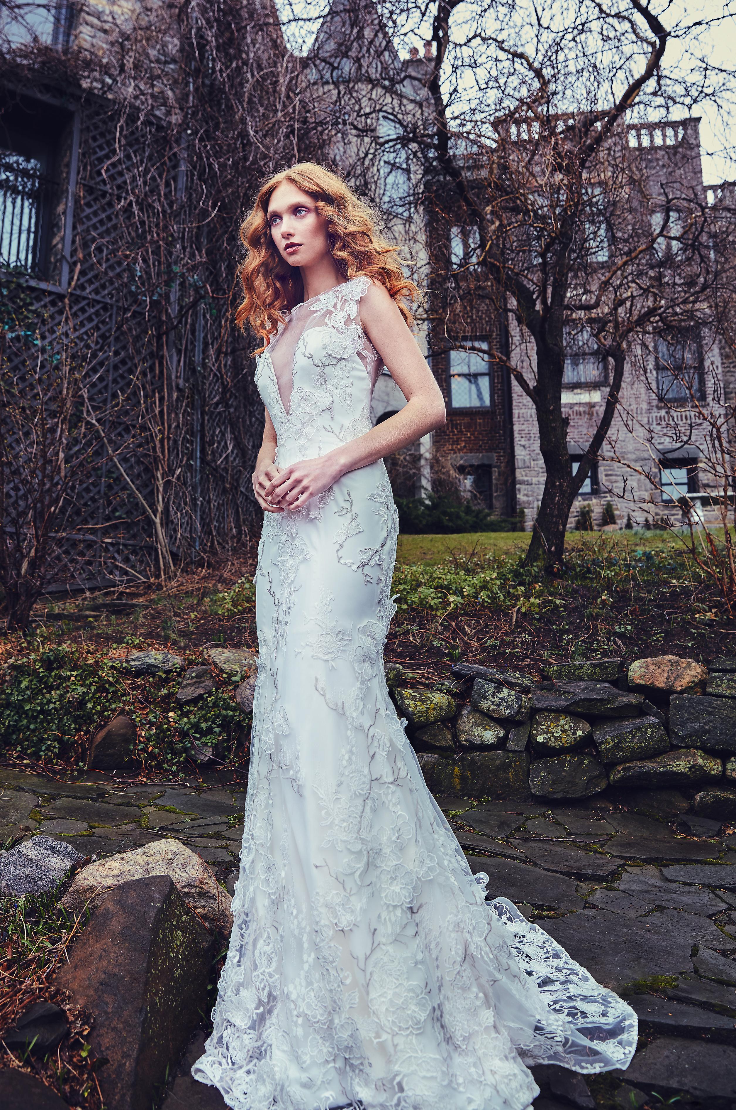 Sareh Nouri Trumpet Wedding Dress Spring 2018