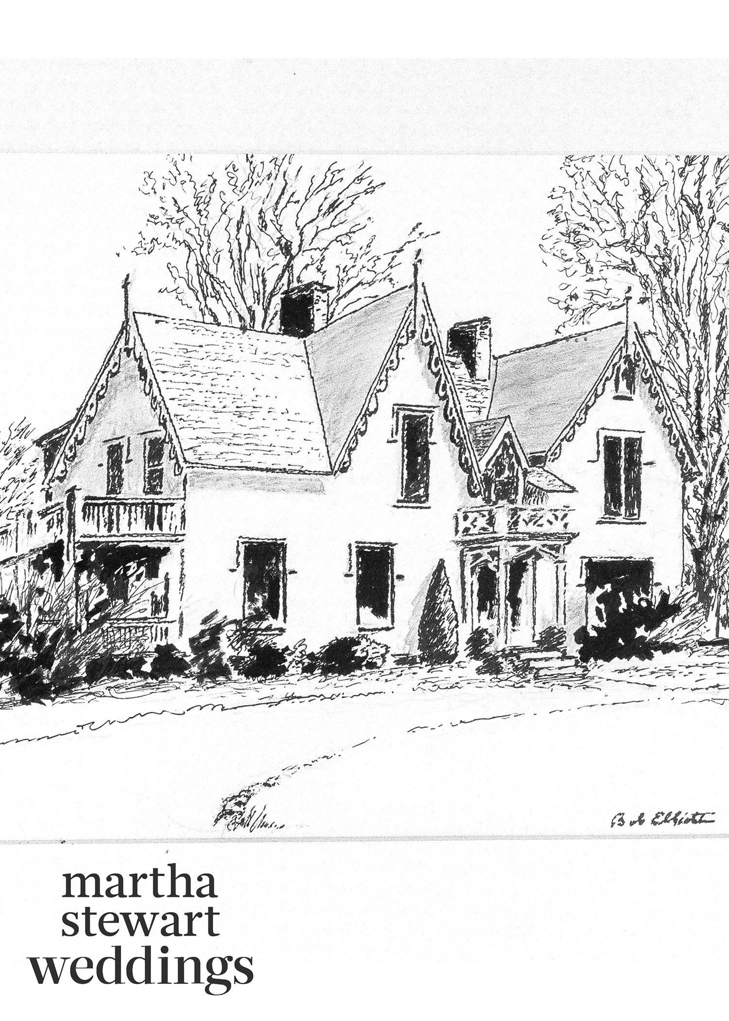 abby elliott bill kennedy wedding sketch