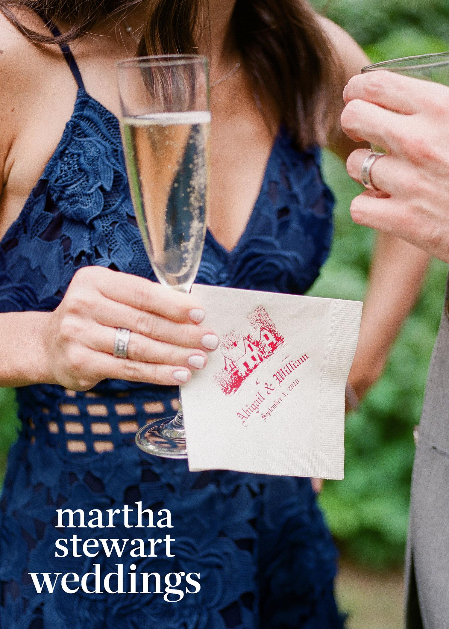 abby elliott bill kennedy wedding napkin