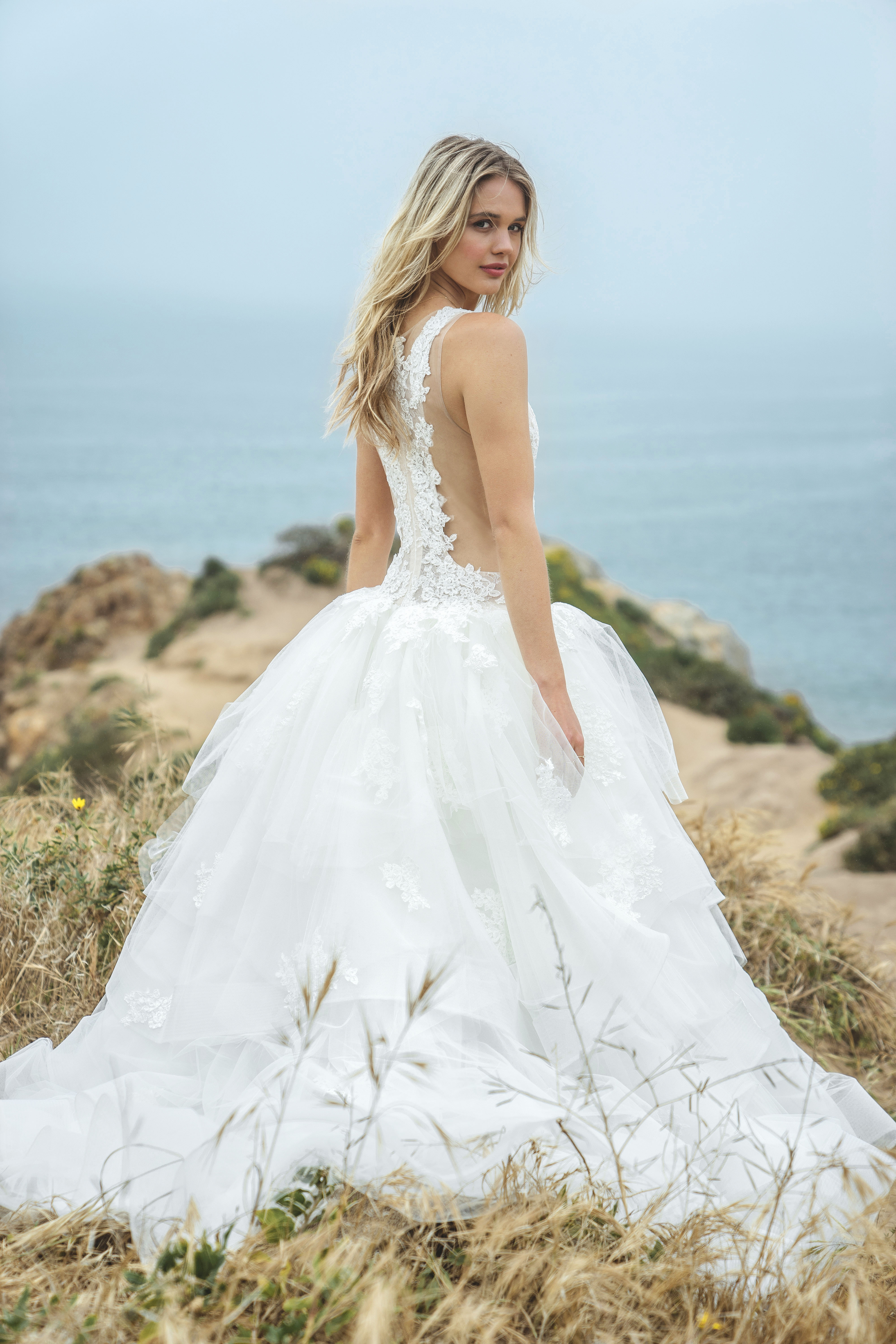 sabrina dahan lace ball gown wedding dress spring 2018