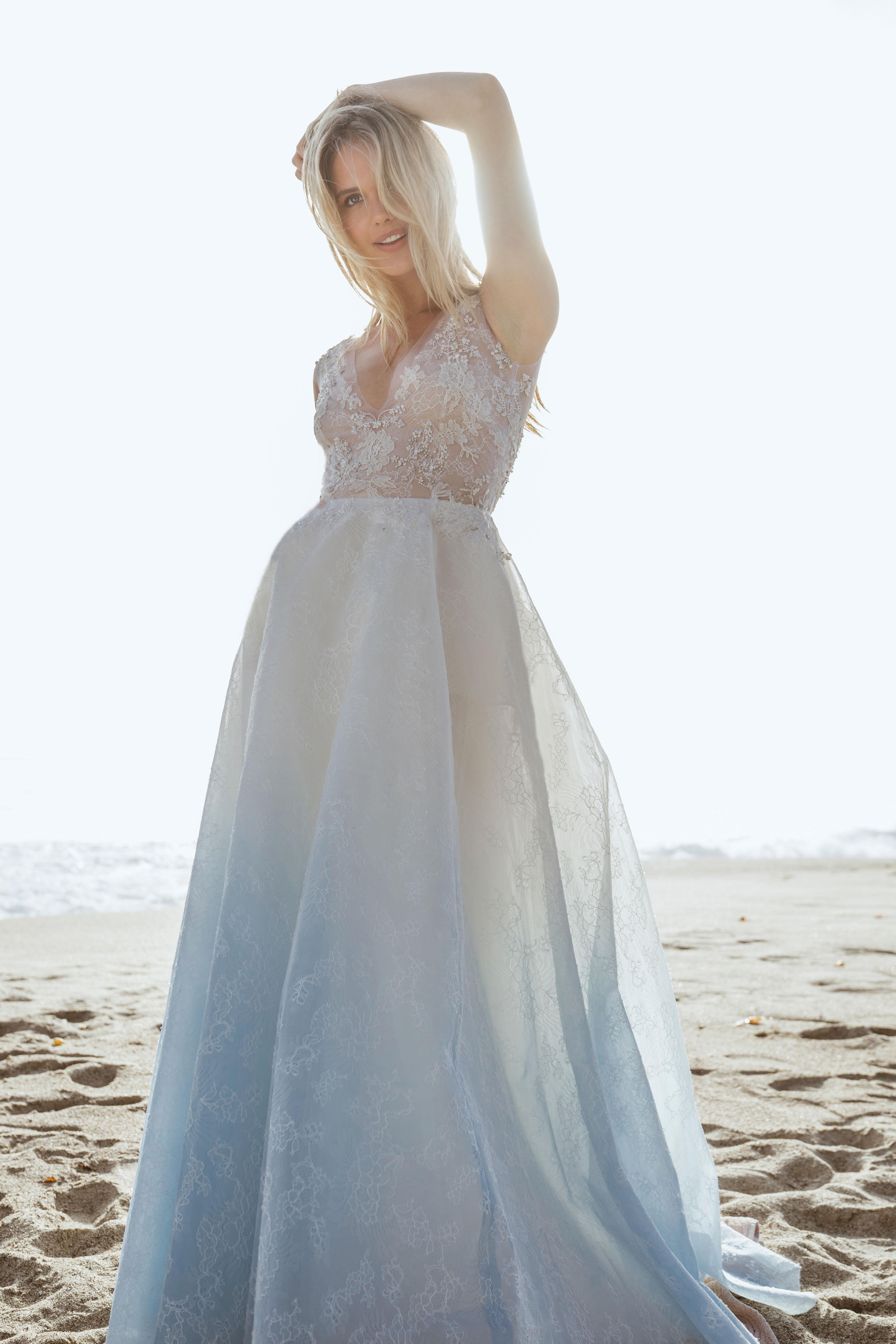 sabrina dahan lace v-neck ball gown wedding dress spring 2018