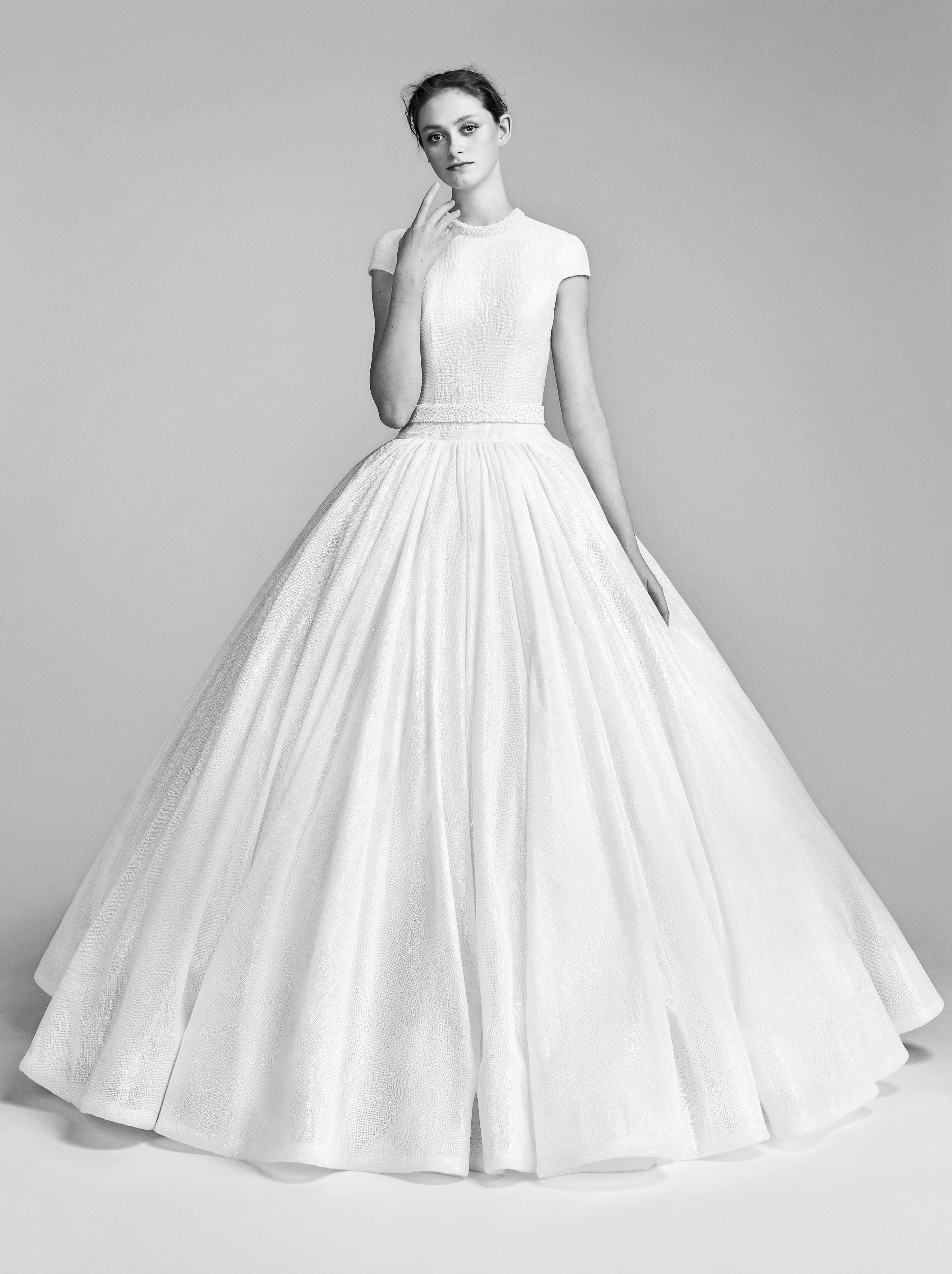 Viktor&Rolf Ball Gown Wedding Dress with Short Sleeves Spring 2018