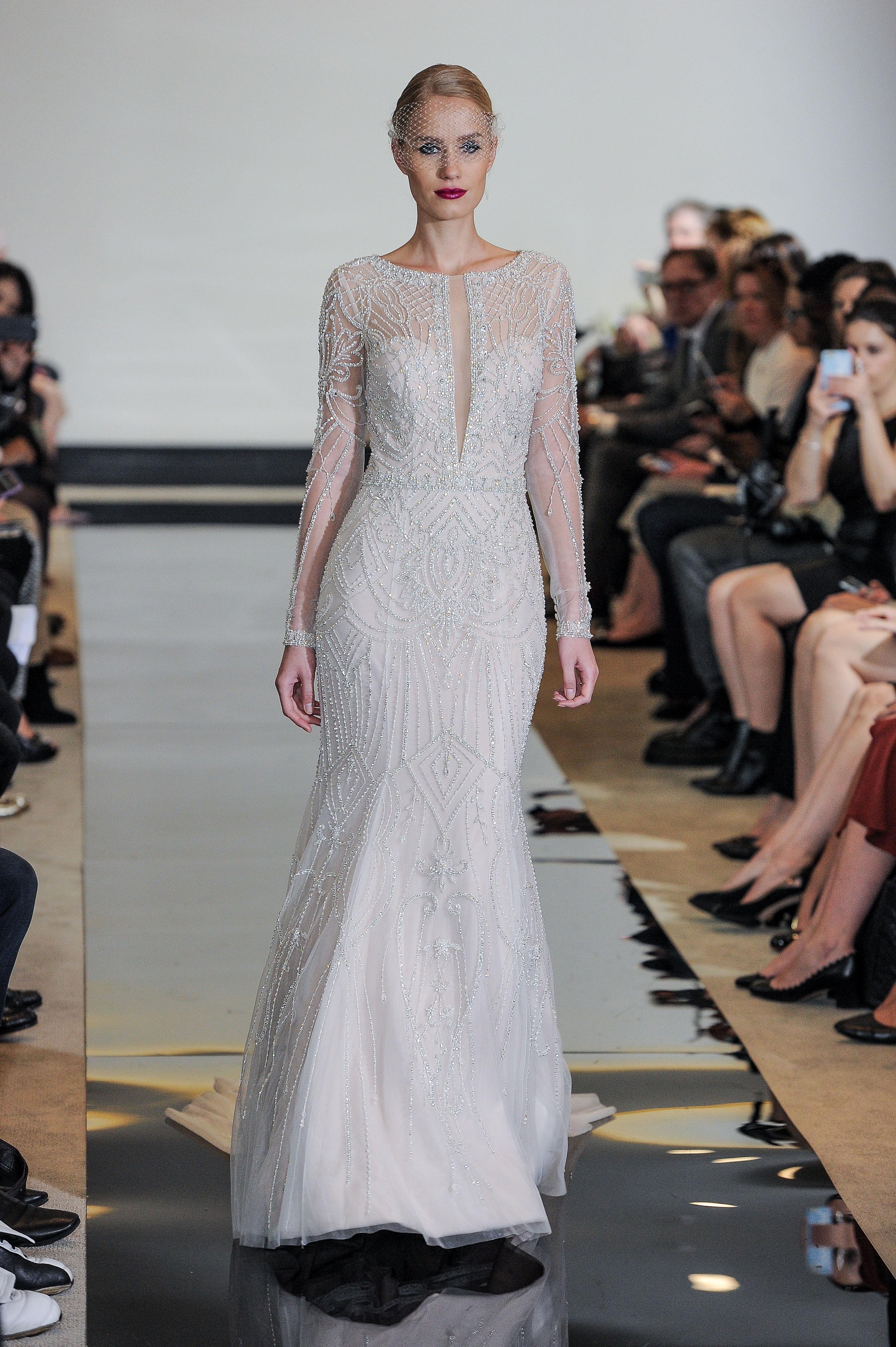 Justin Alexander Beaded Mermaid Wedding Dress Spring 2018