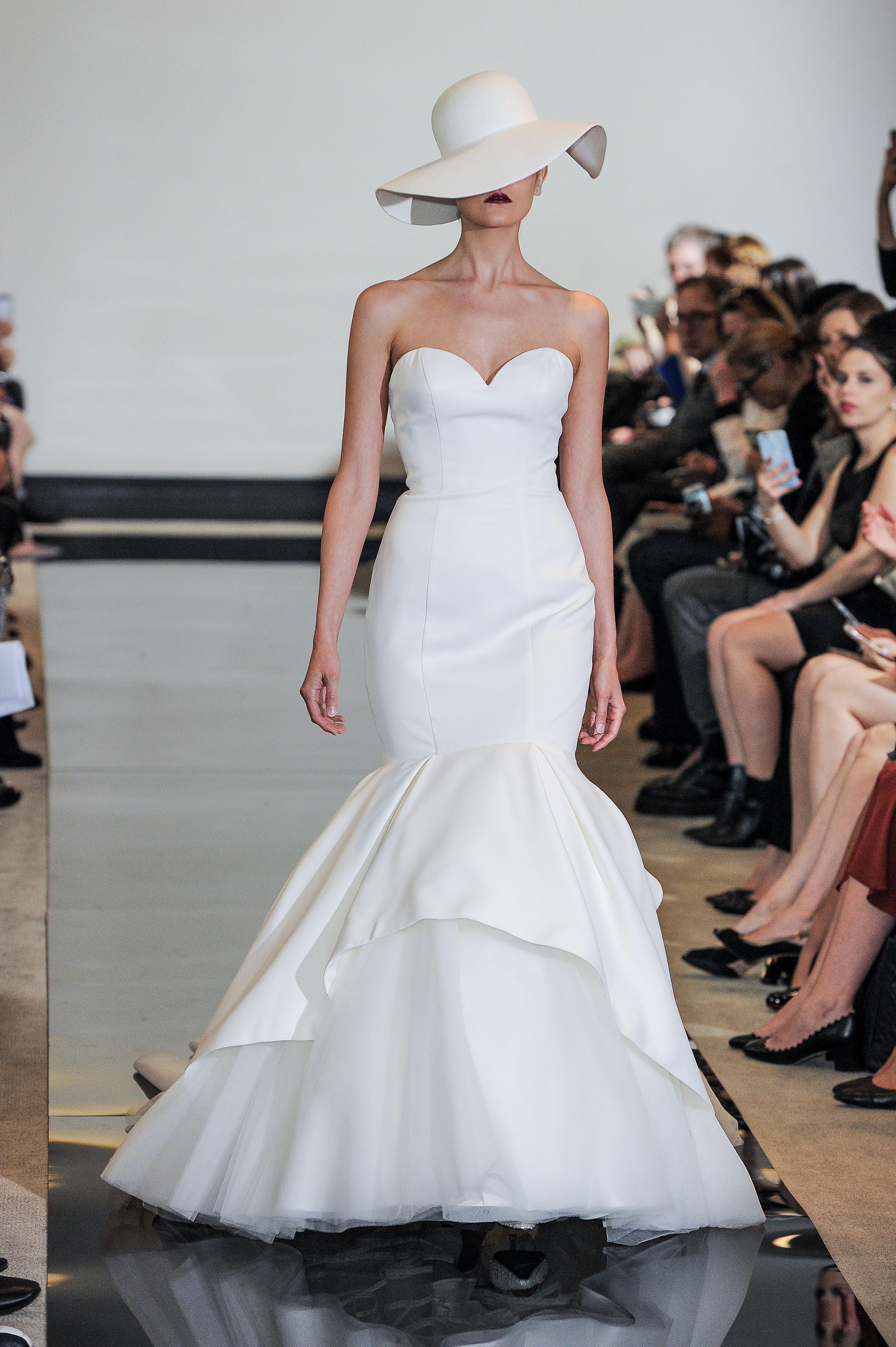 Justin Alexander Strapless Mermaid Wedding Dress Spring 2018
