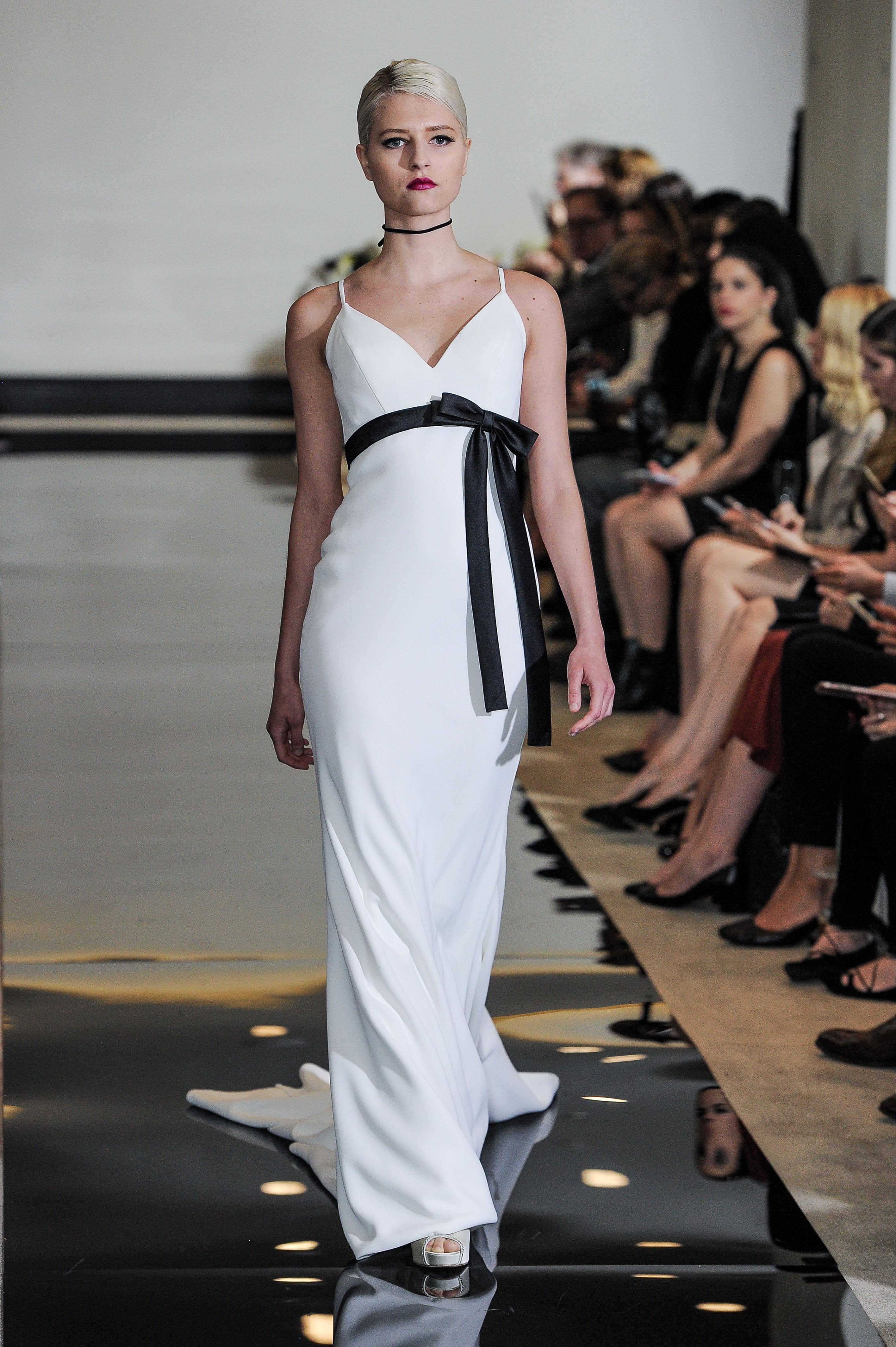 Justin Alexander Strapless Sheath Wedding Dress Spring 2018