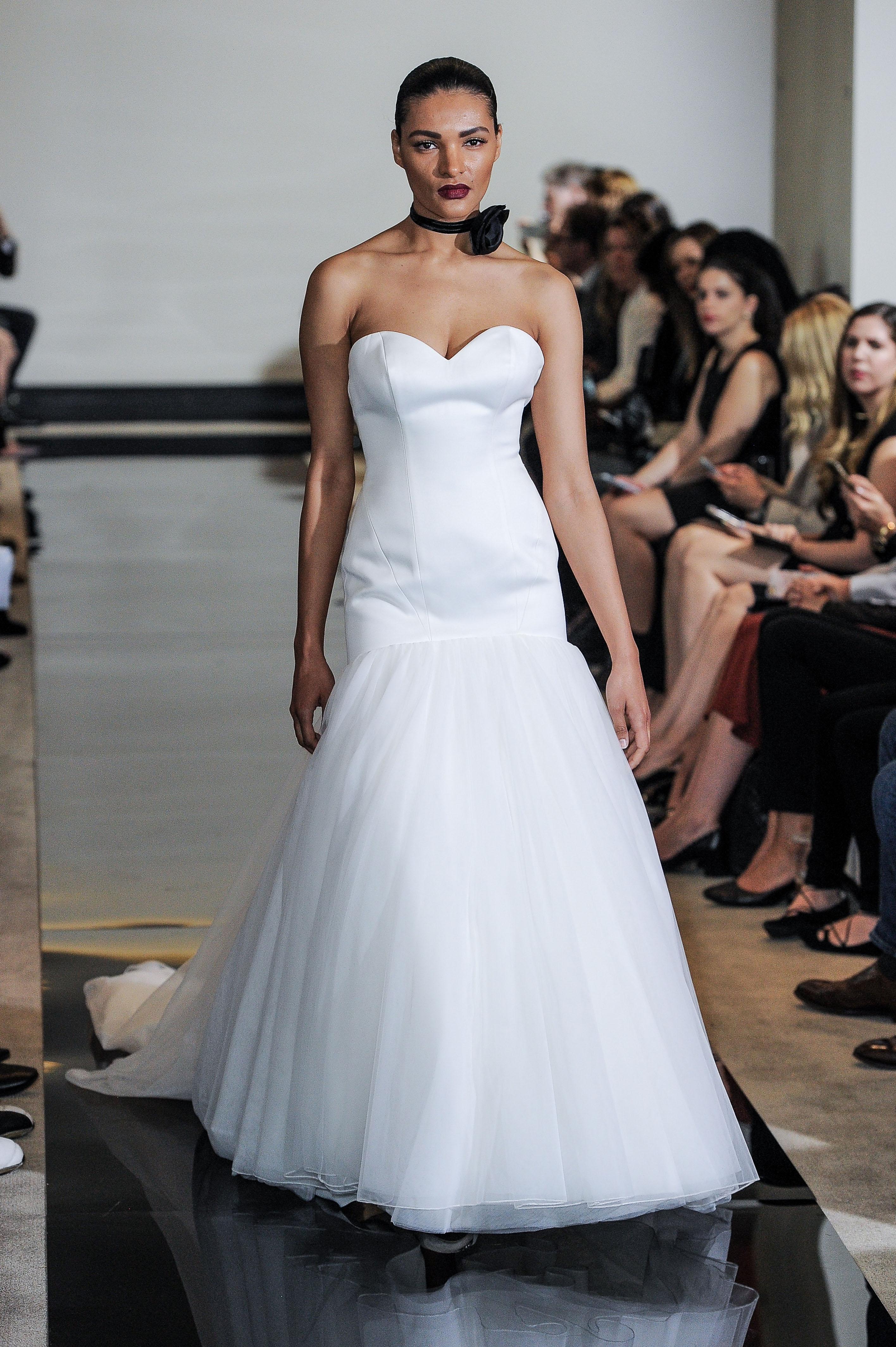 Justin Alexander Strapless Trumpet Wedding Dress Spring 2018