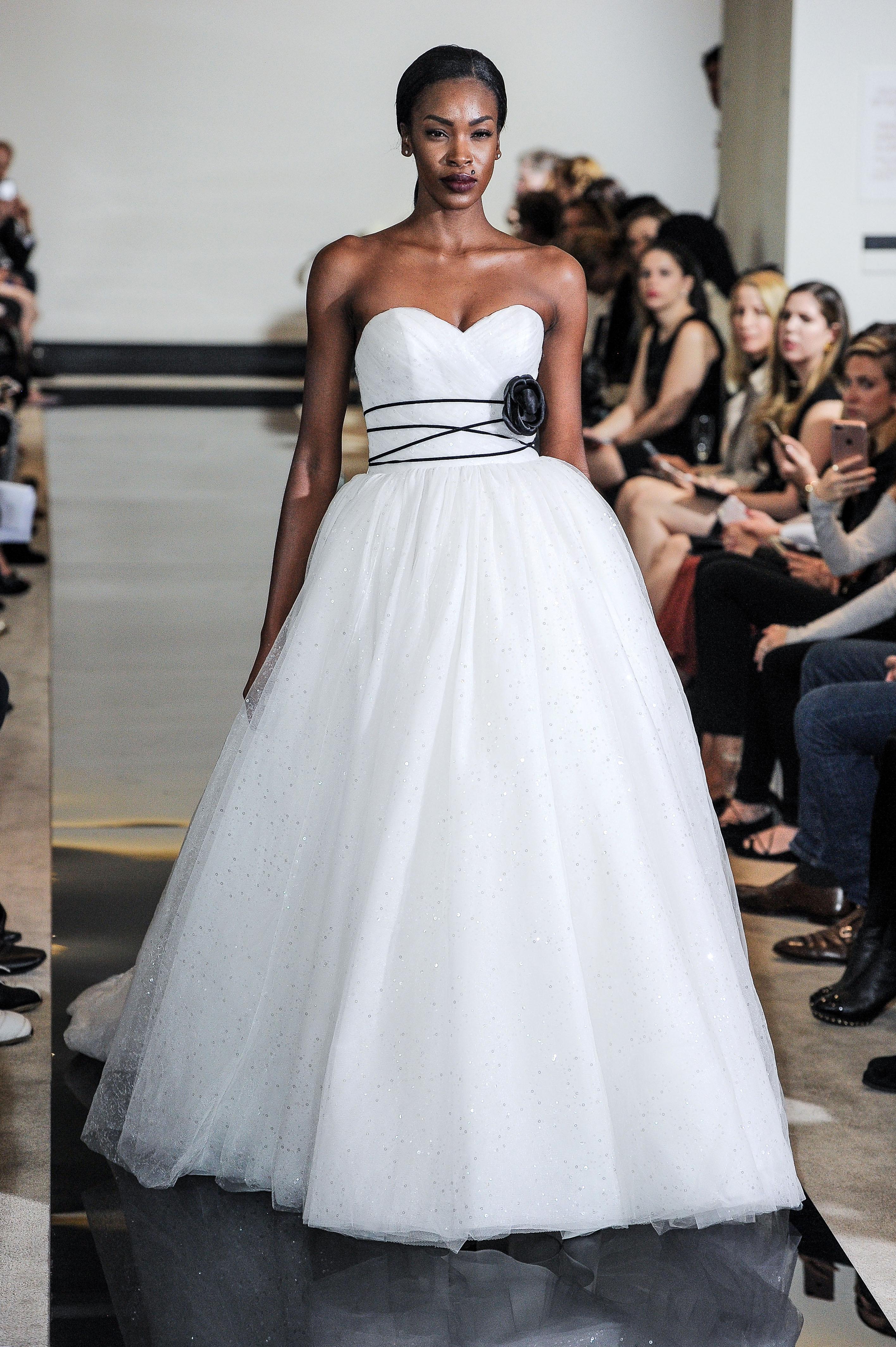 Justin Alexander Sparkly Ball Gown Wedding Dress Spring 2018