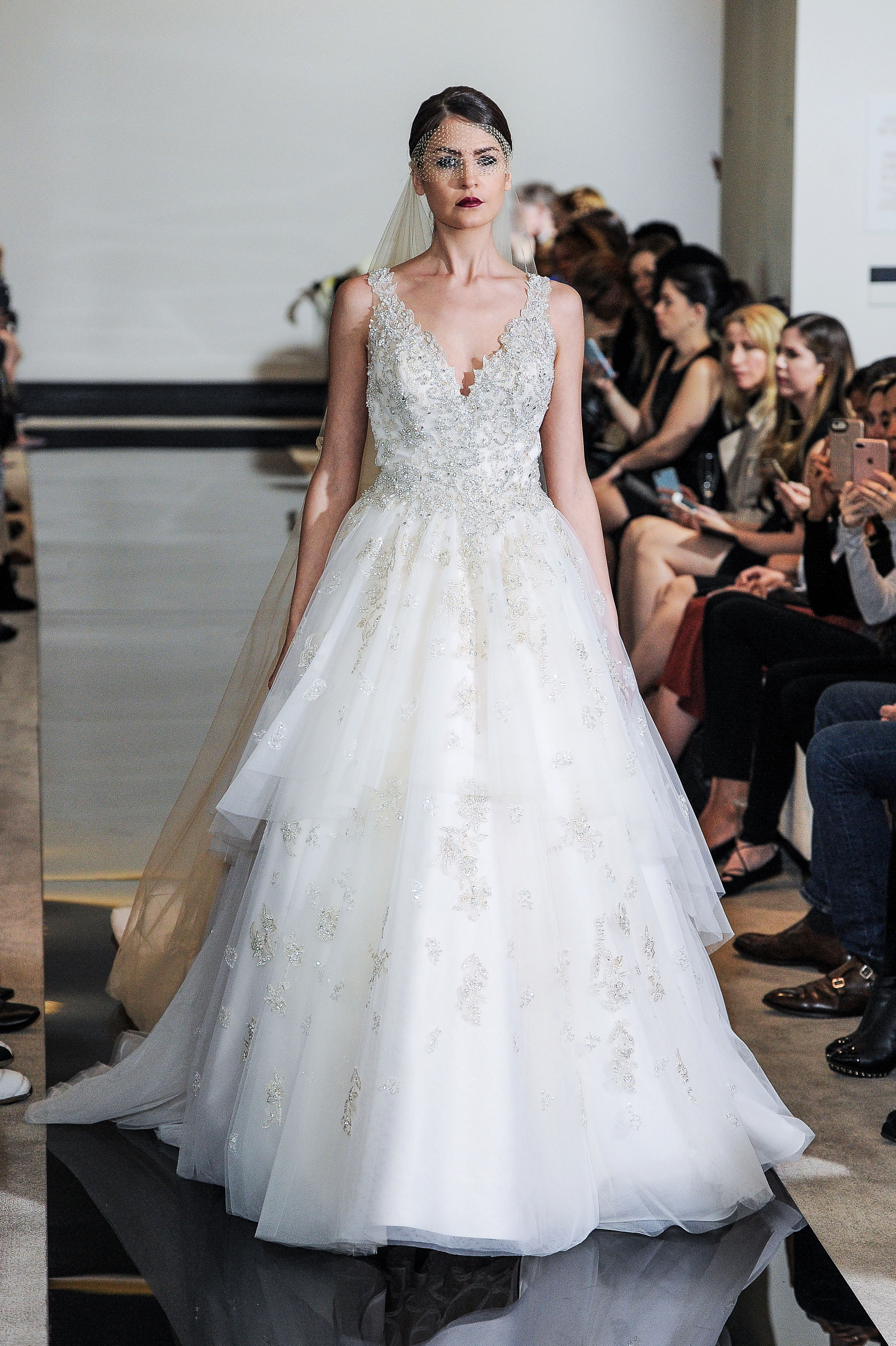 Justin Alexander Wedding Dress with Tulle Spring 2018