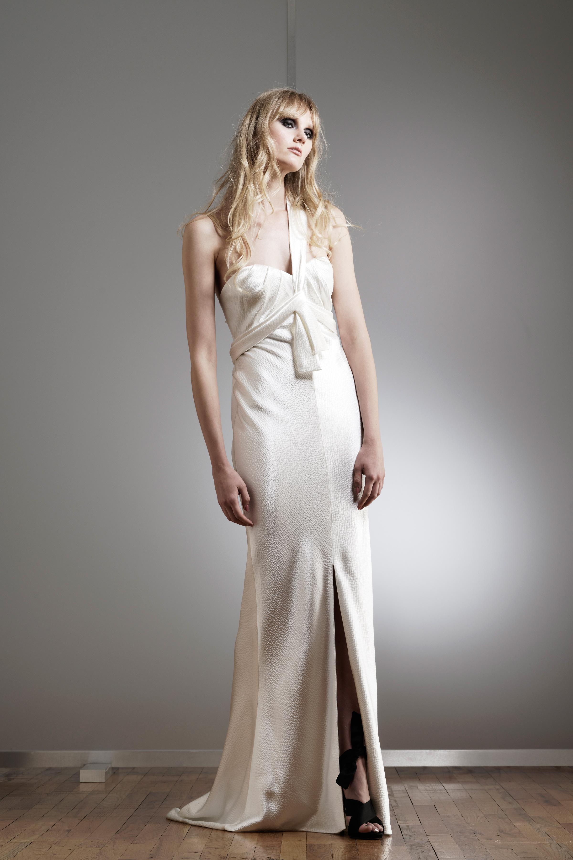 elizabeth fillmore one-strap trumpet wedding dress spring 2018