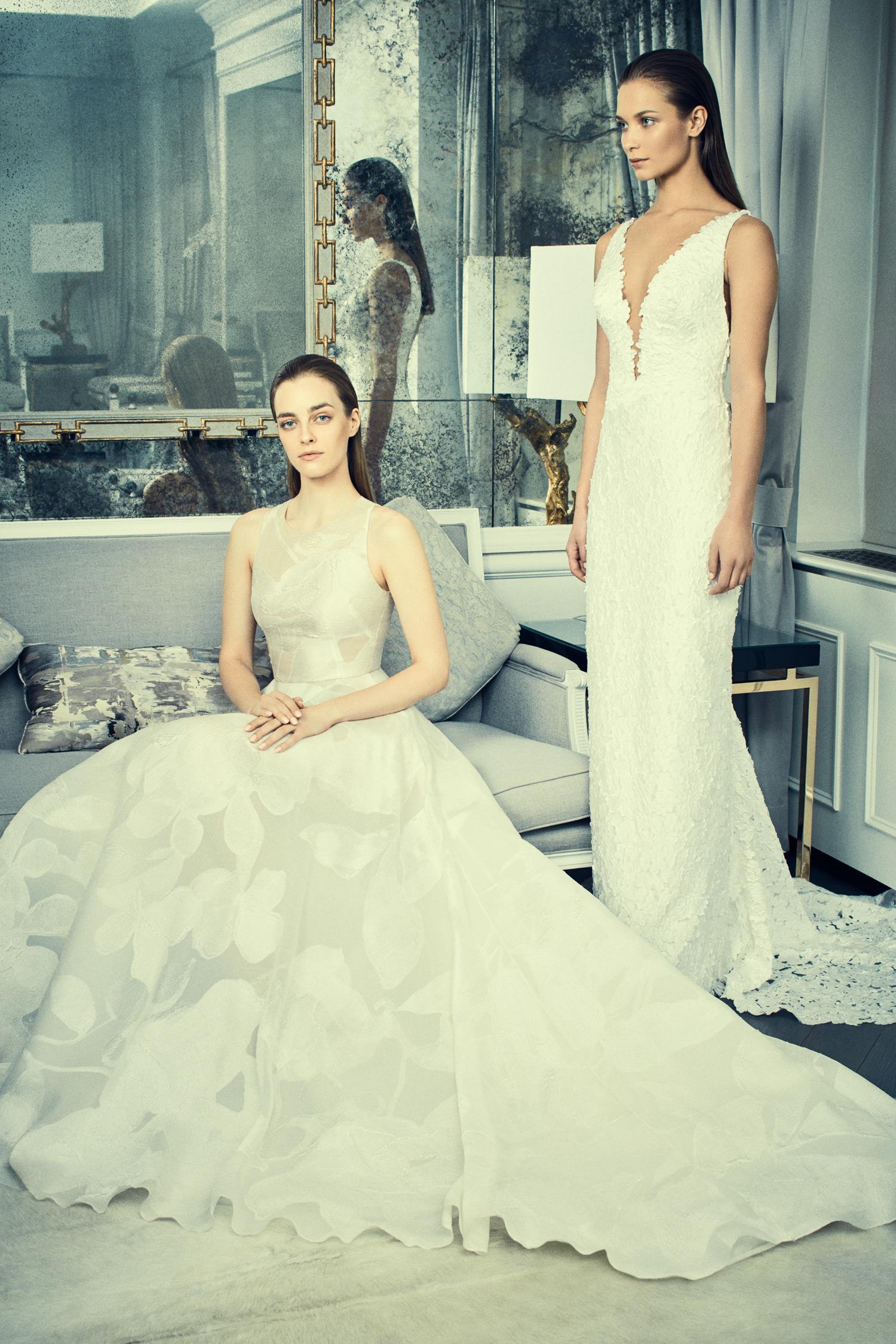 romona keveza collection wedding dress spring 2018 v-neck sheath and a-line