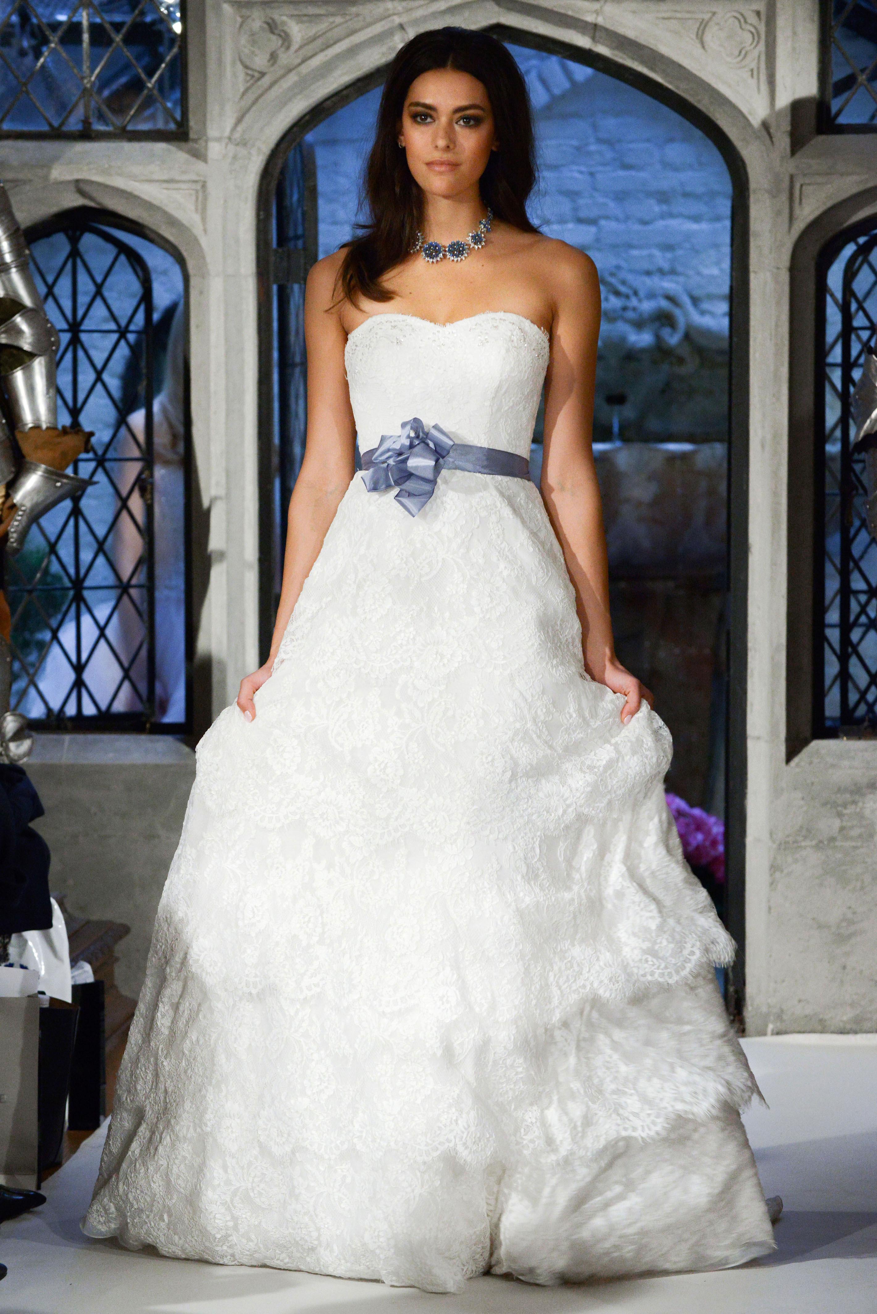 oleg cassini a-line with bow wedding dress spring 2018