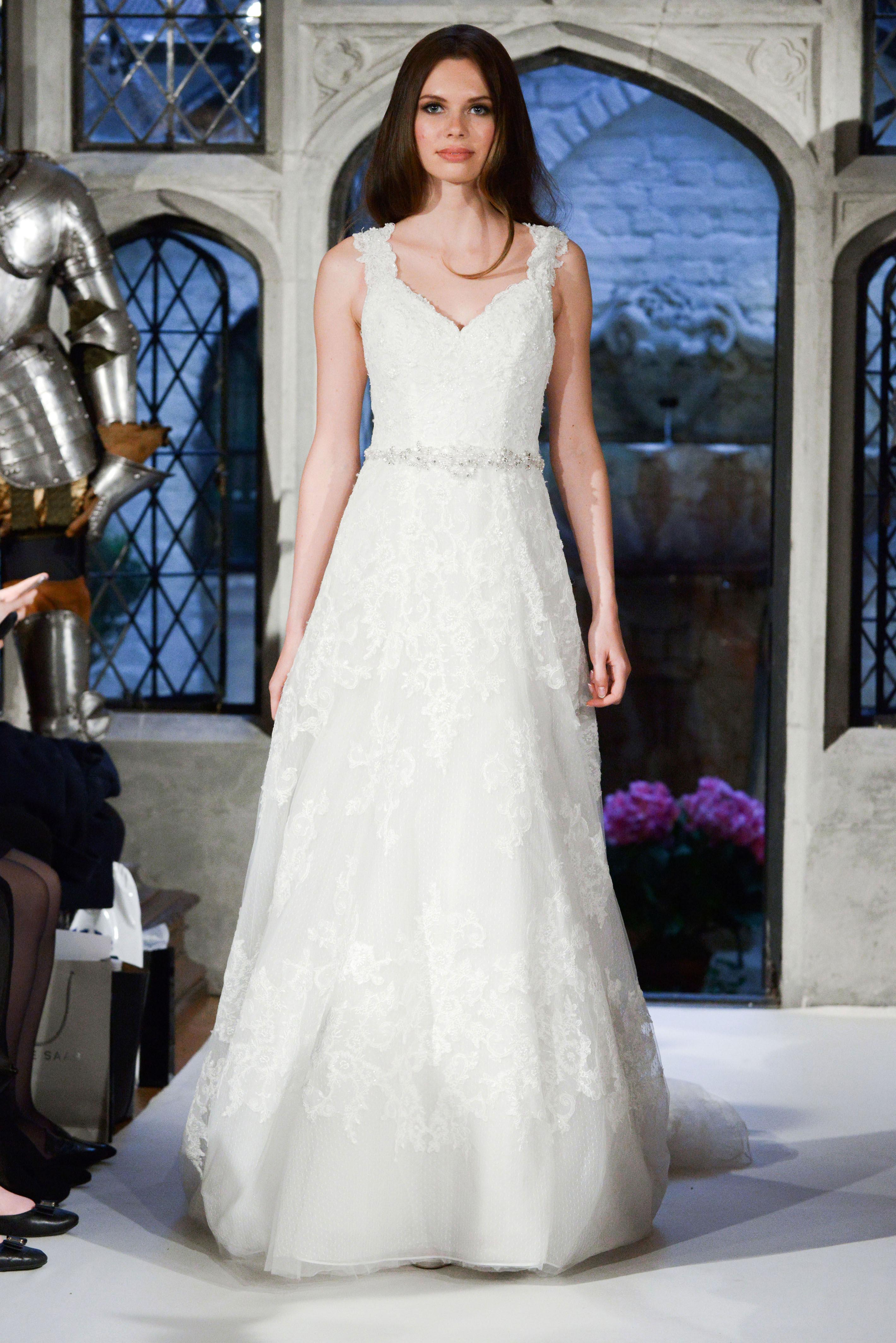 oleg cassini lace a-line wedding dress spring 2018