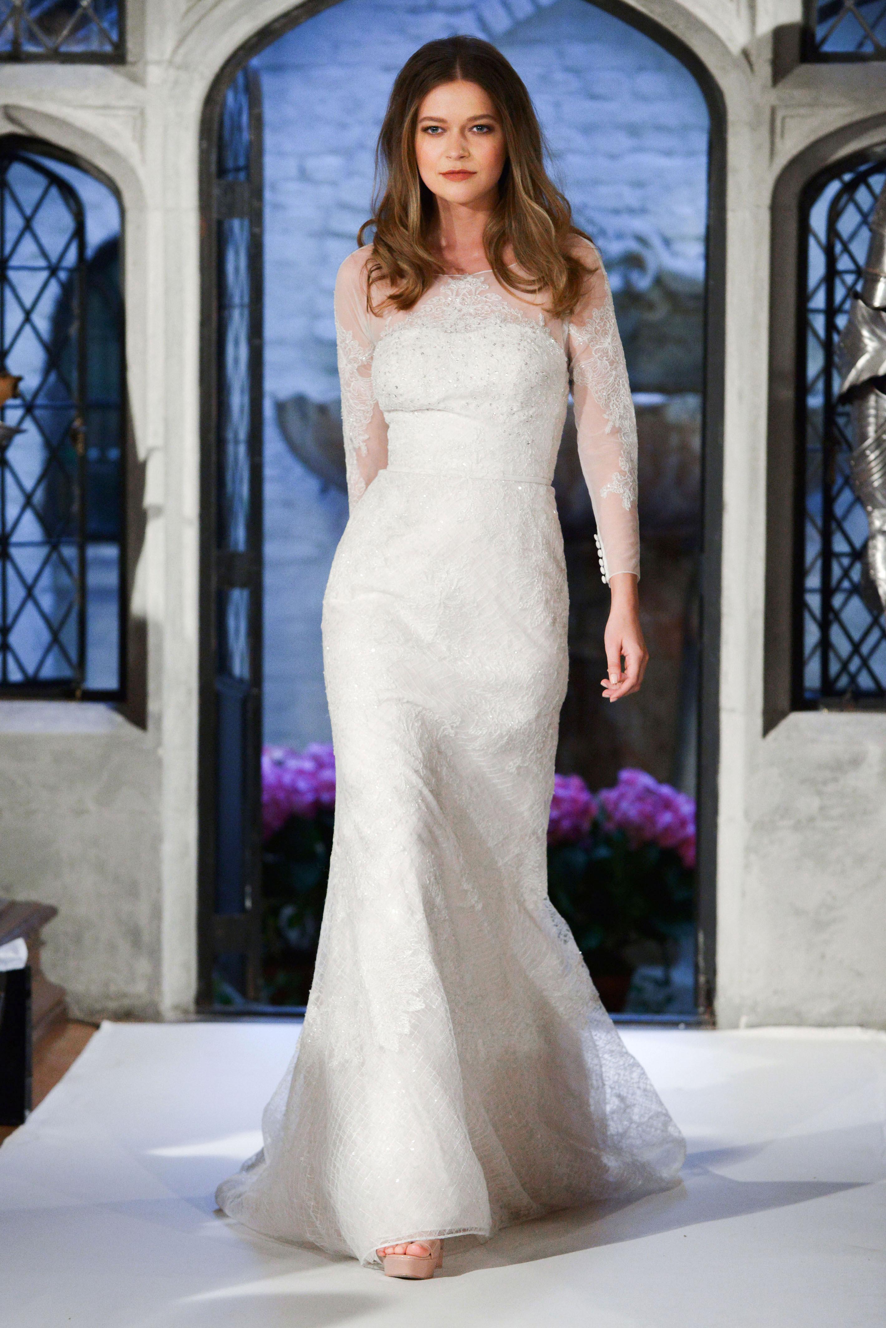 oleg cassini long sleeve wedding dress spring 2018