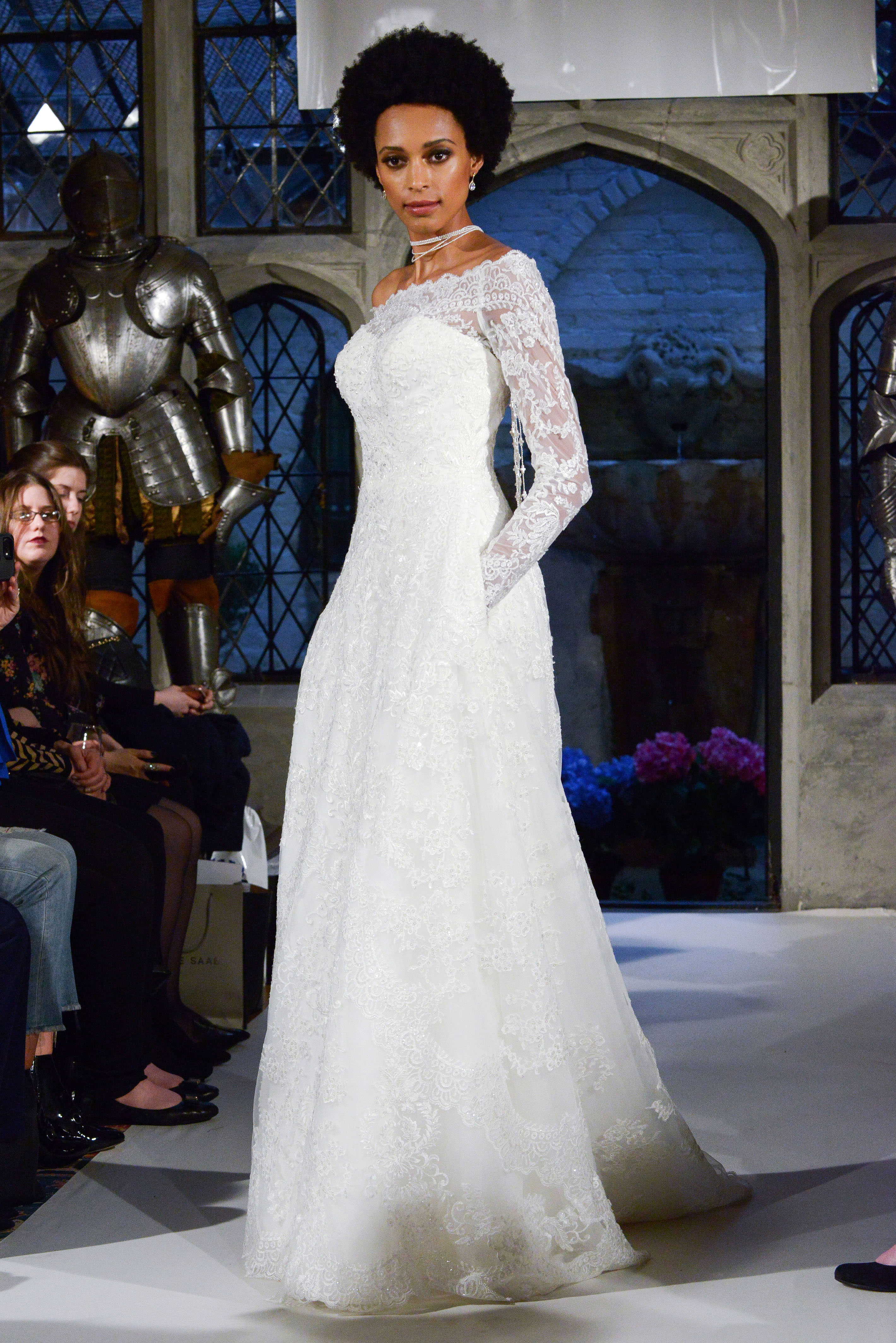 oleg cassini lace long sleeves wedding dress spring 2018