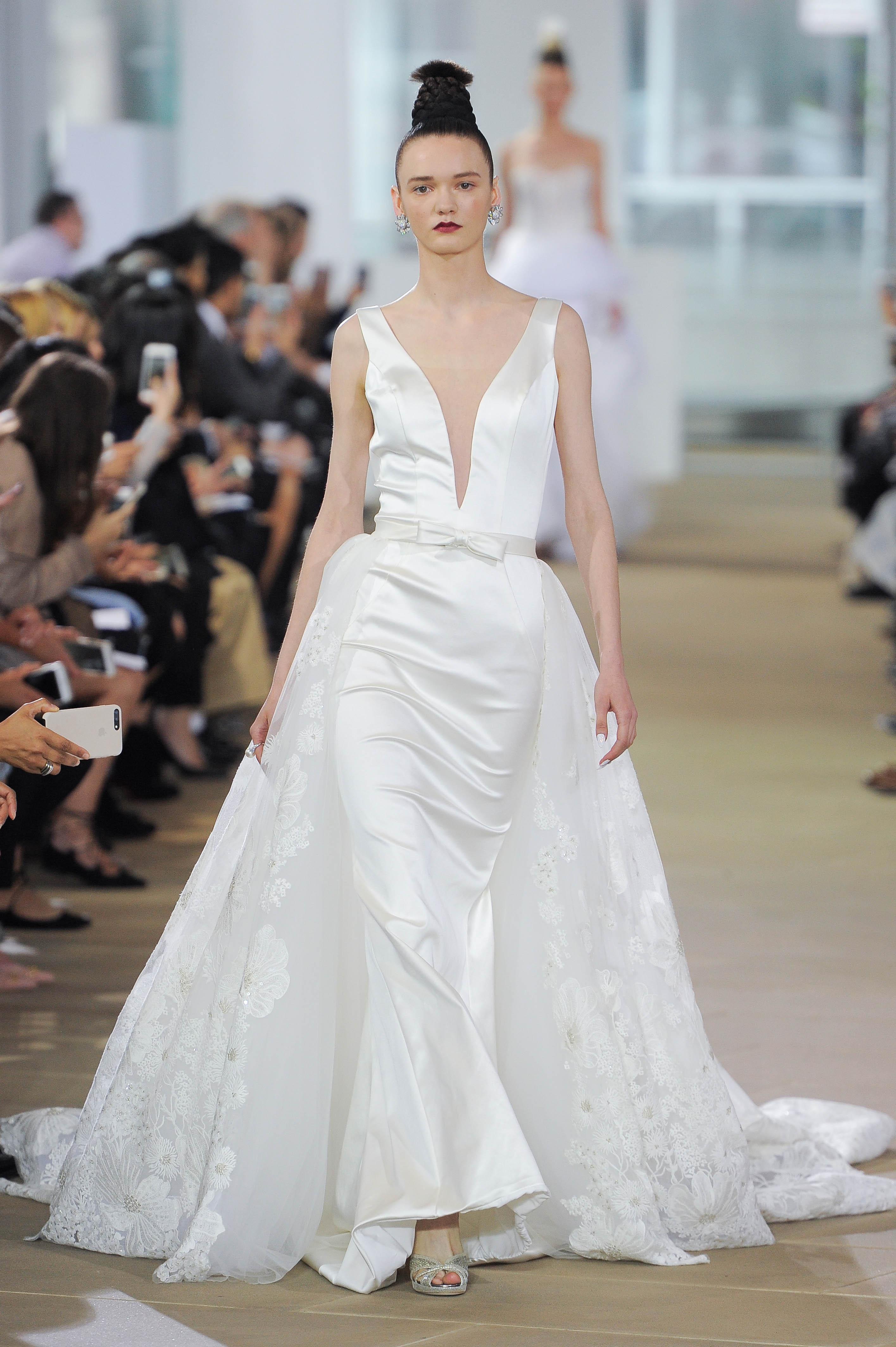 Ines Di Santo Wedding Dress with V-Neck Spring 2018
