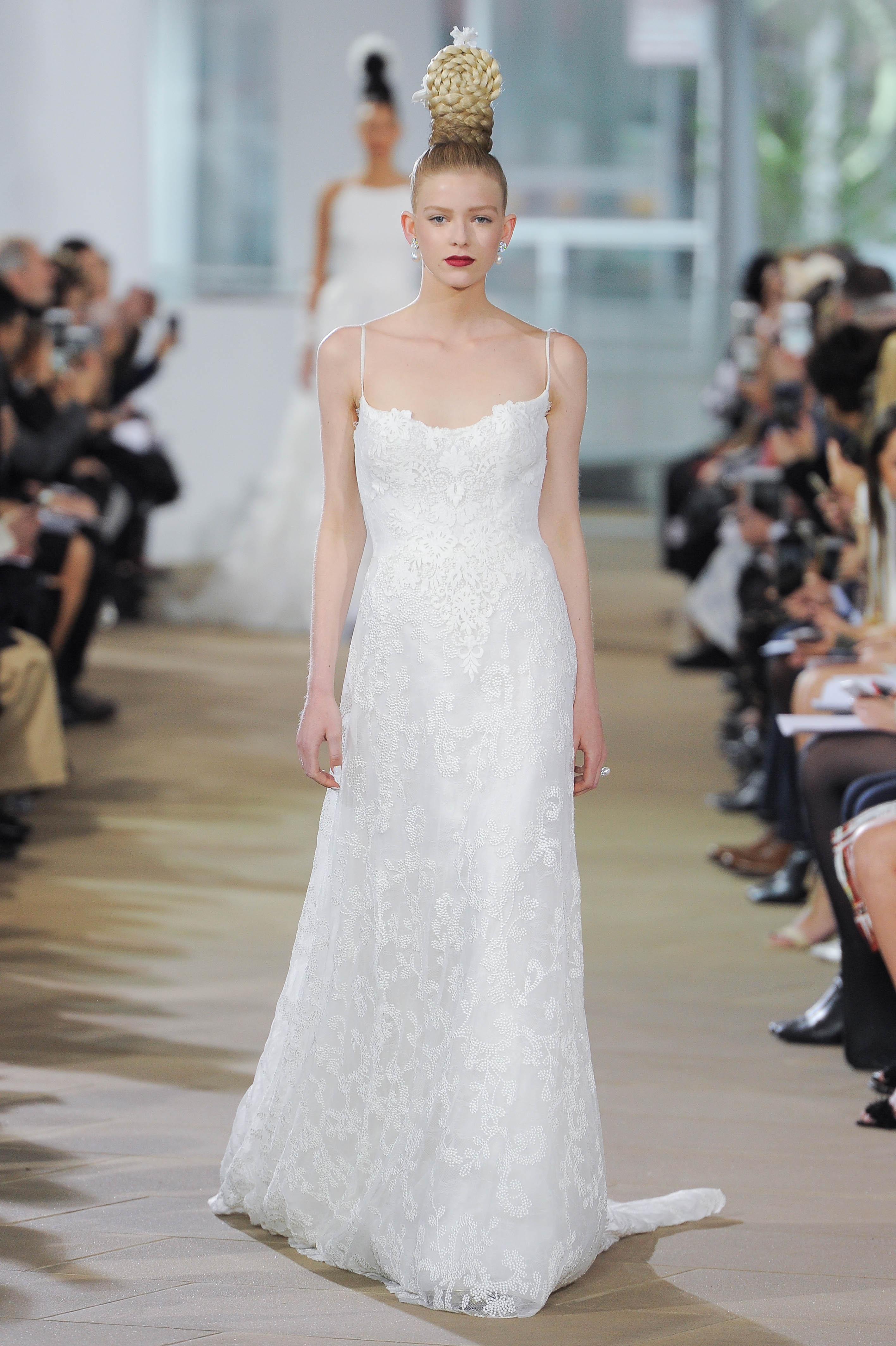 Ines Di Santo Spaghetti Strap Wedding Dress with Lace Spring 2018