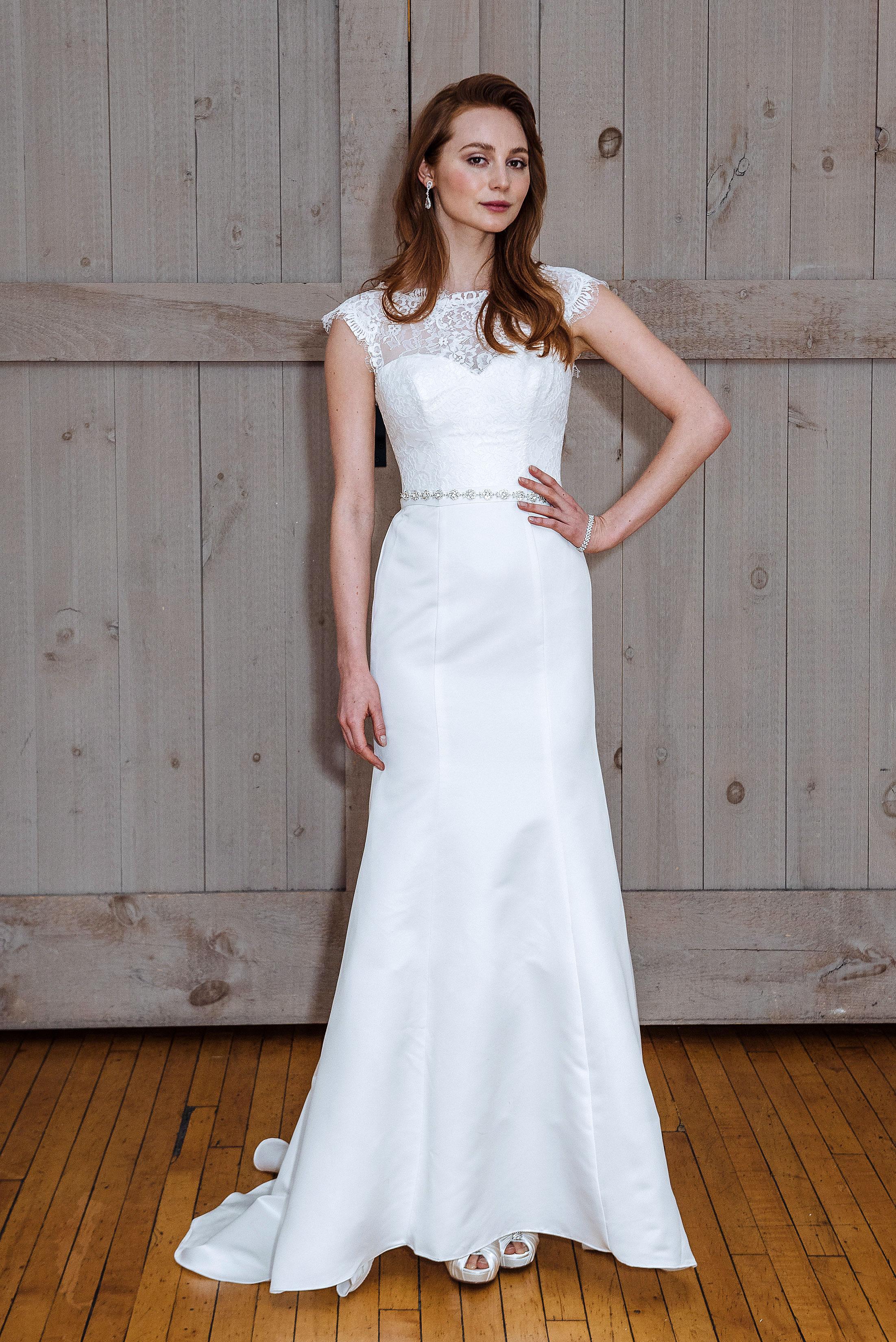david's bridal cap sleeve wedding dress spring 2018