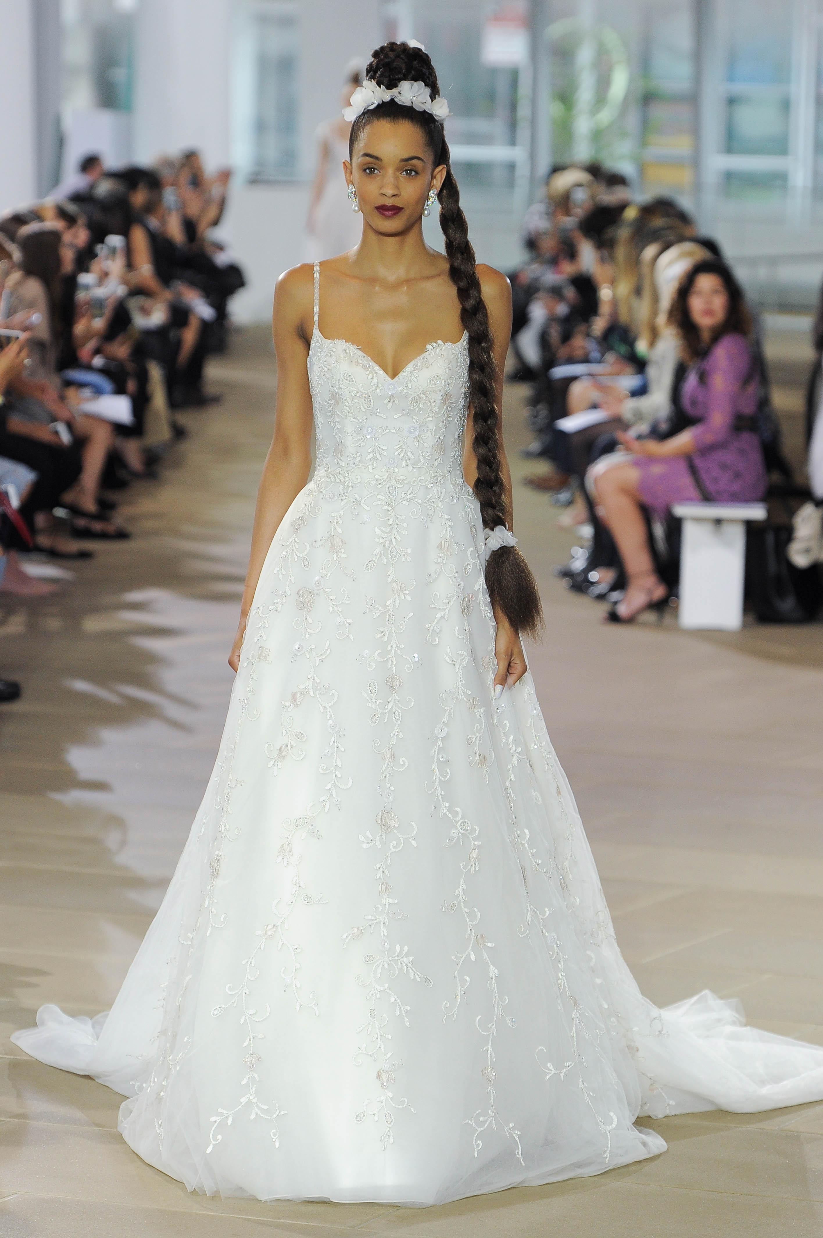 ines di santo spaghetti strap wedding dress spring 2018