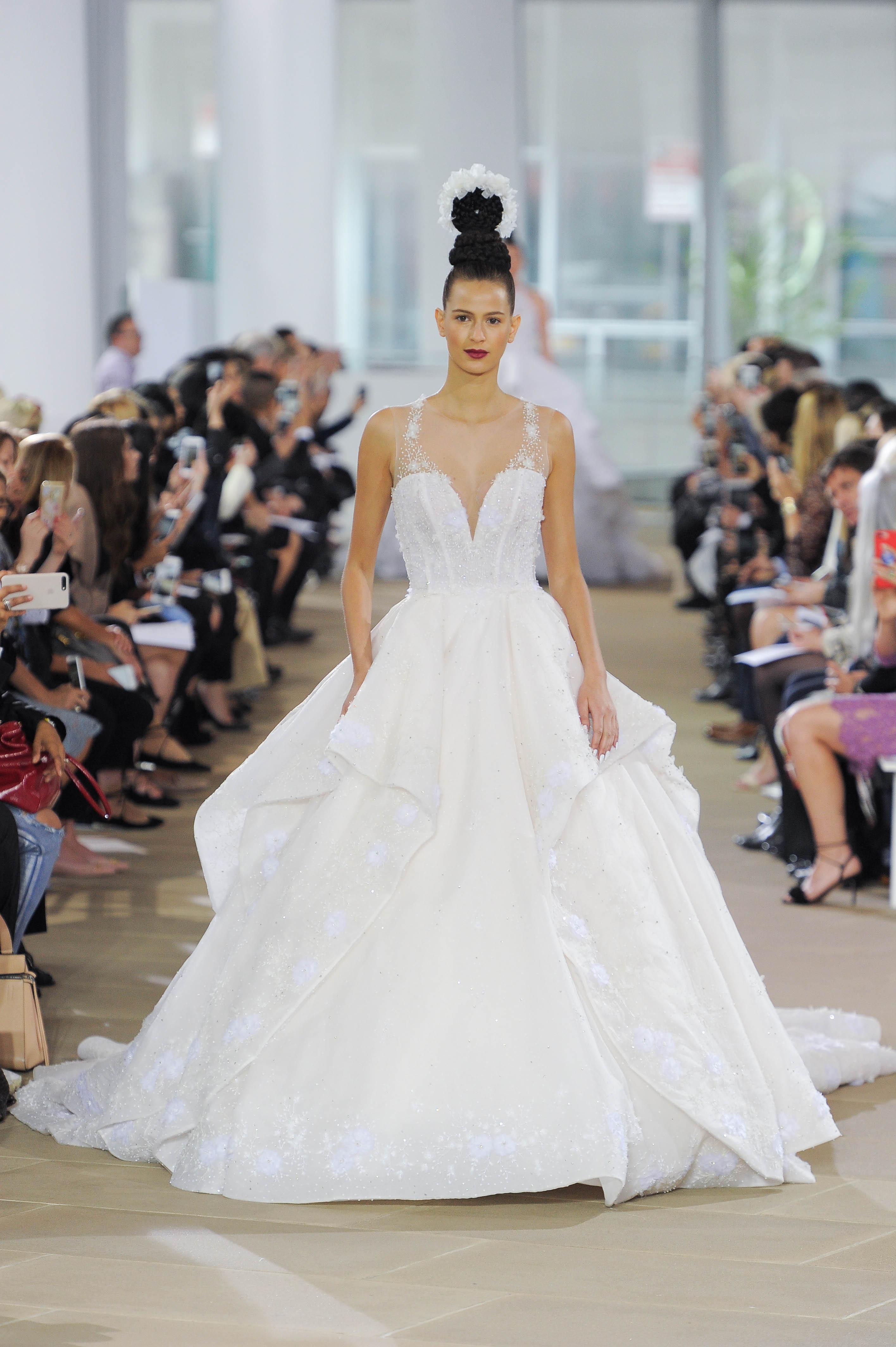 ines di santo v-neck wedding dress spring 2018