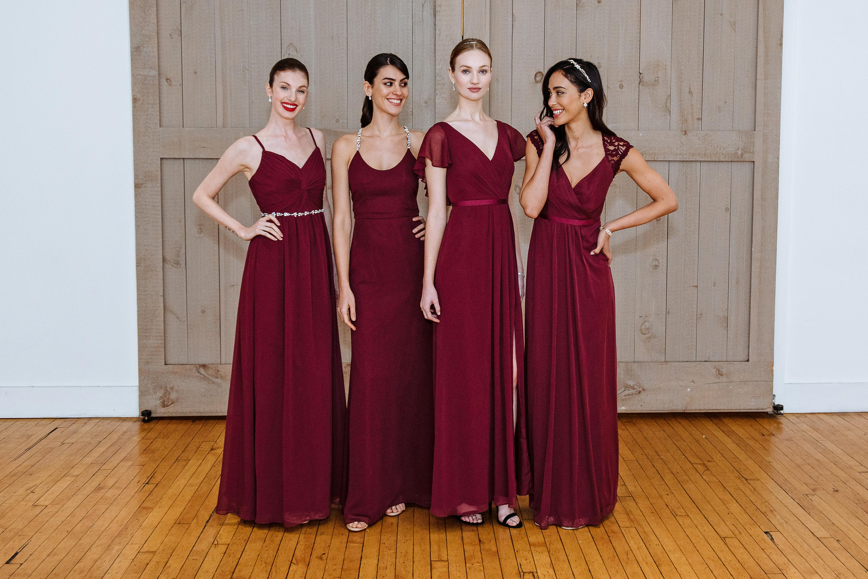 david's bridal burgundy wedding dress spring 2018
