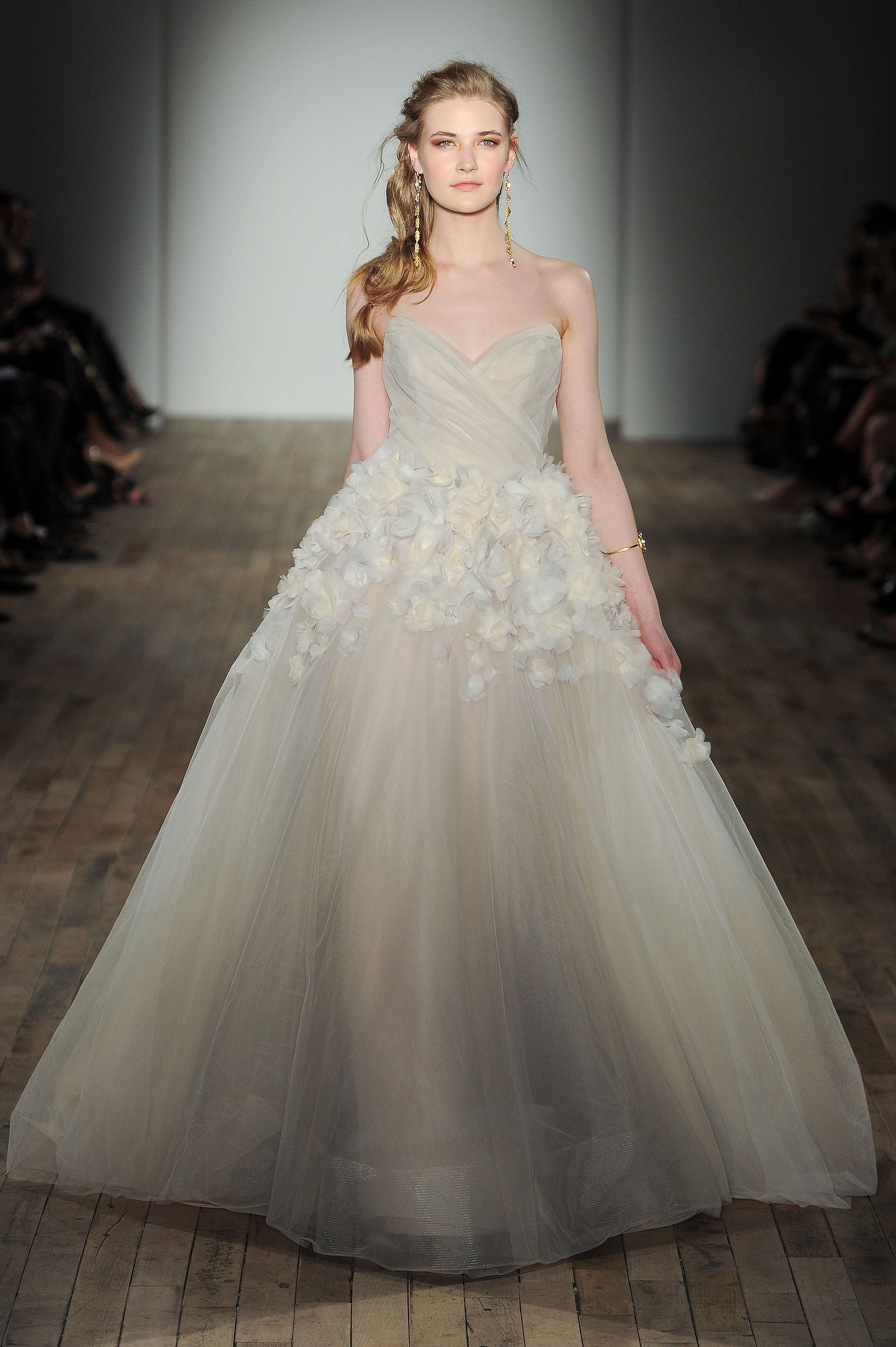 jim hjelm by hayley paige strapless a-line wedding dress spring 2018