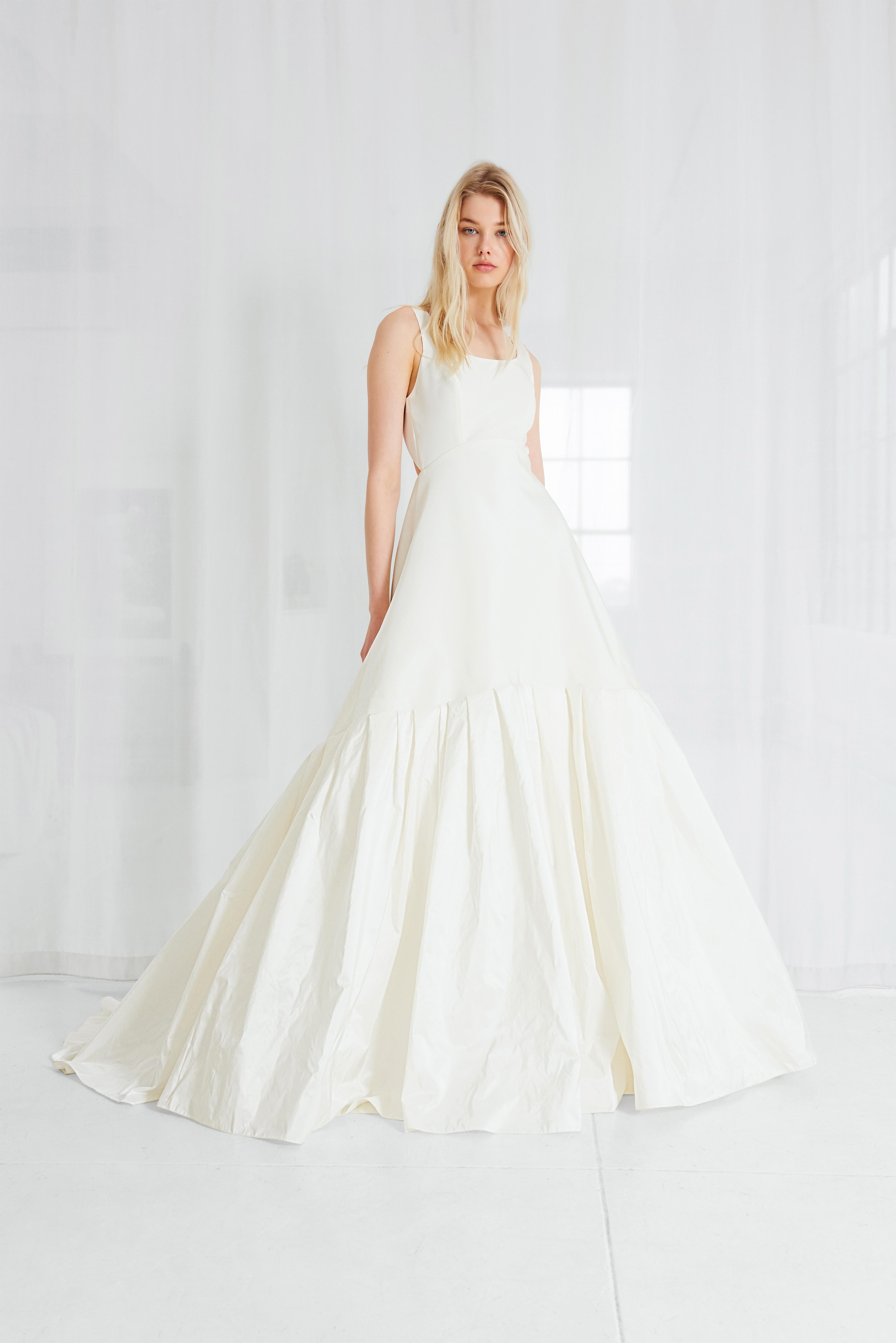 amsale a-line simple wedding dress spring 2018
