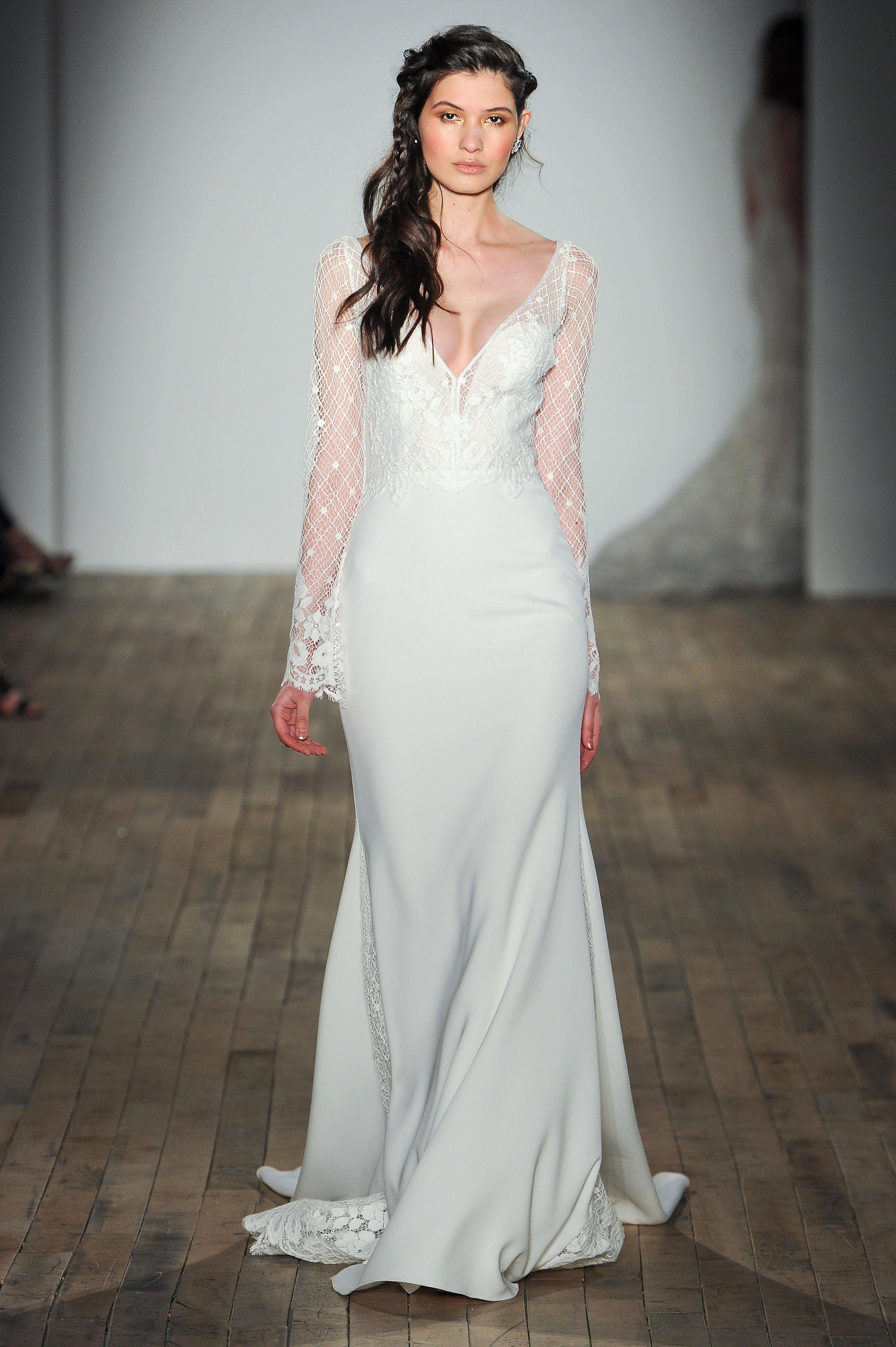 jlm tara keely v-neck long sleeves wedding dress spring 2018