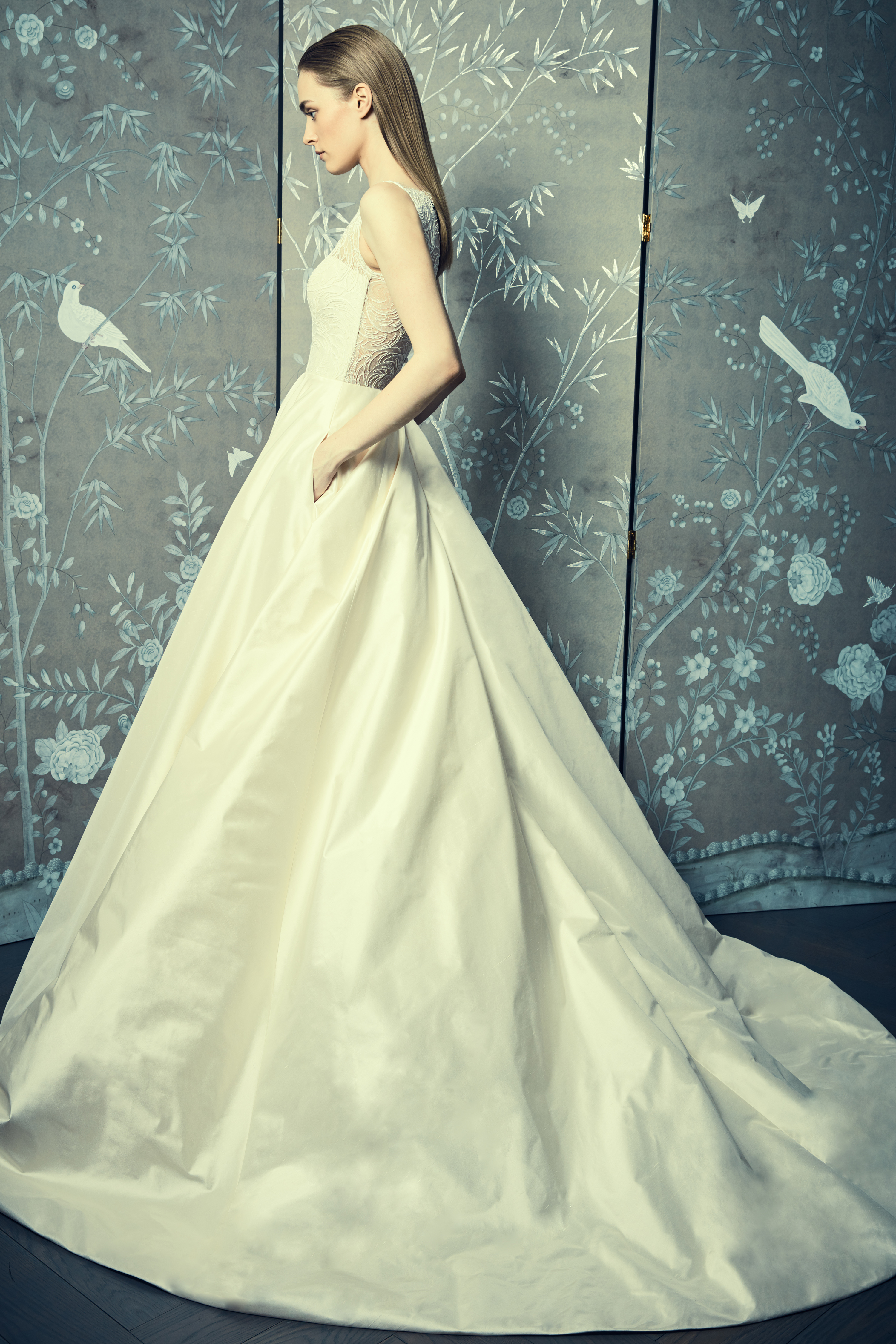 sleeveless ball gown romona keveza legends wedding dress spring2018