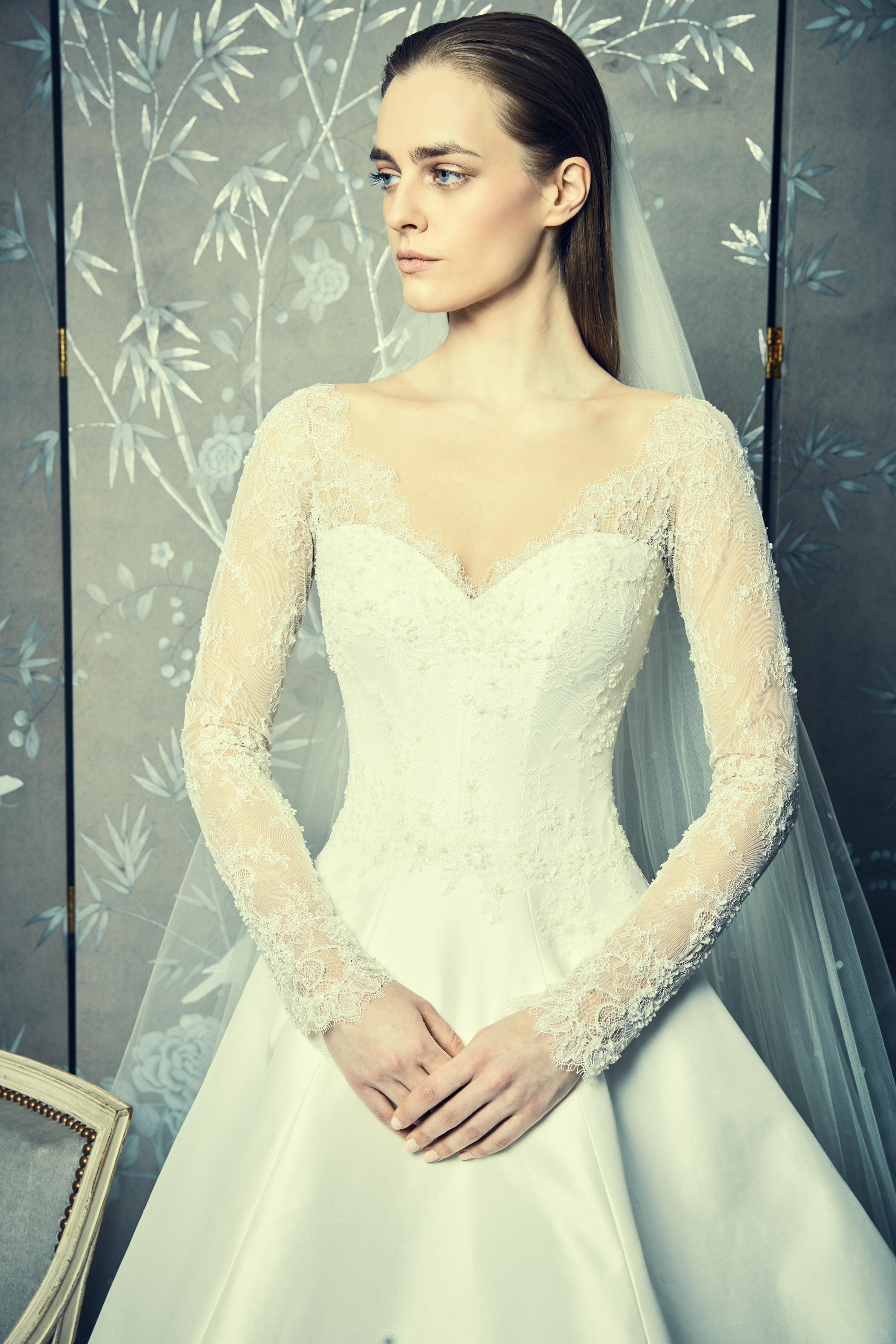 long sleeves lace romona keveza legends wedding dresses spring2018