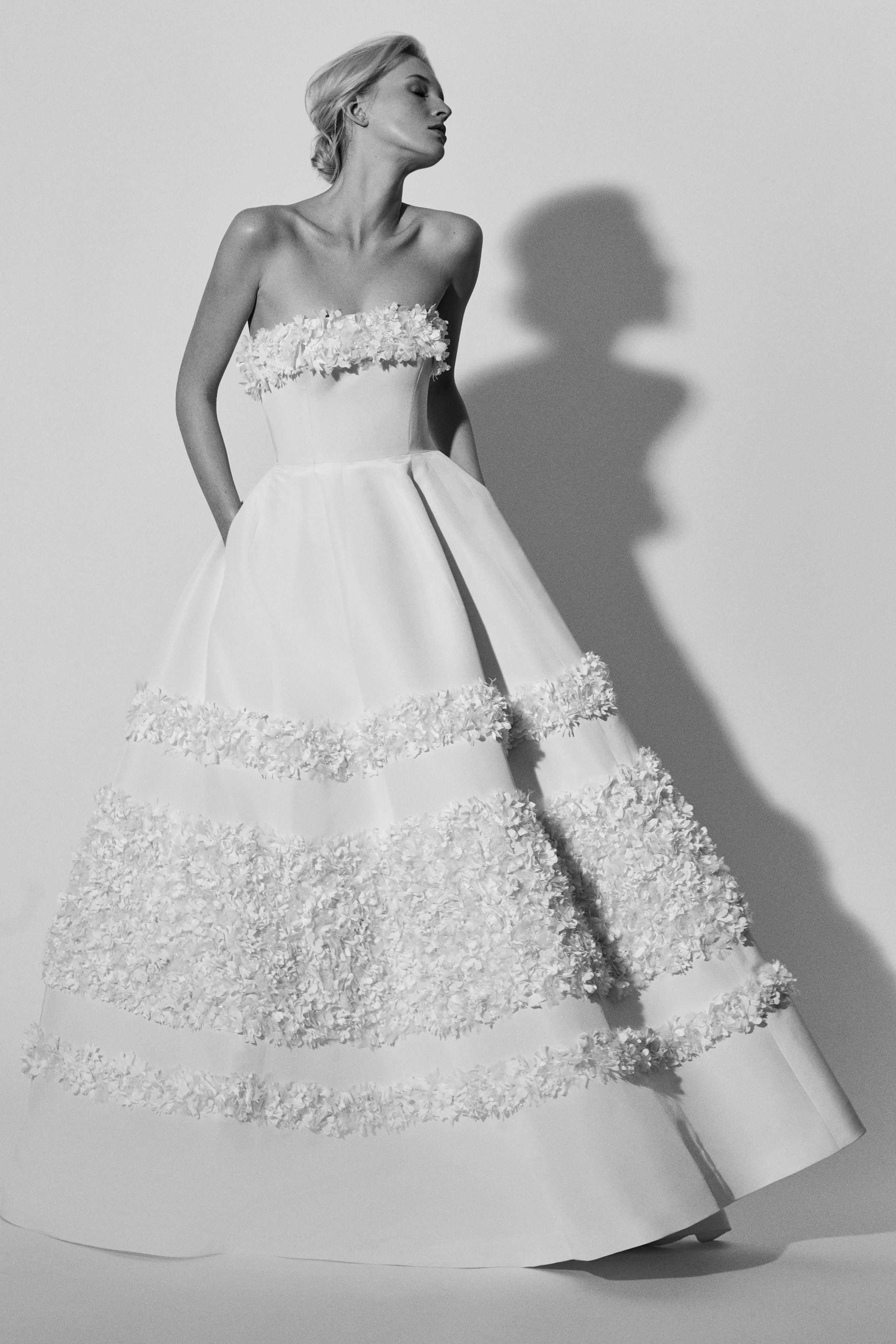 strapless a-line Carolina Herrera Wedding Dress Spring2018