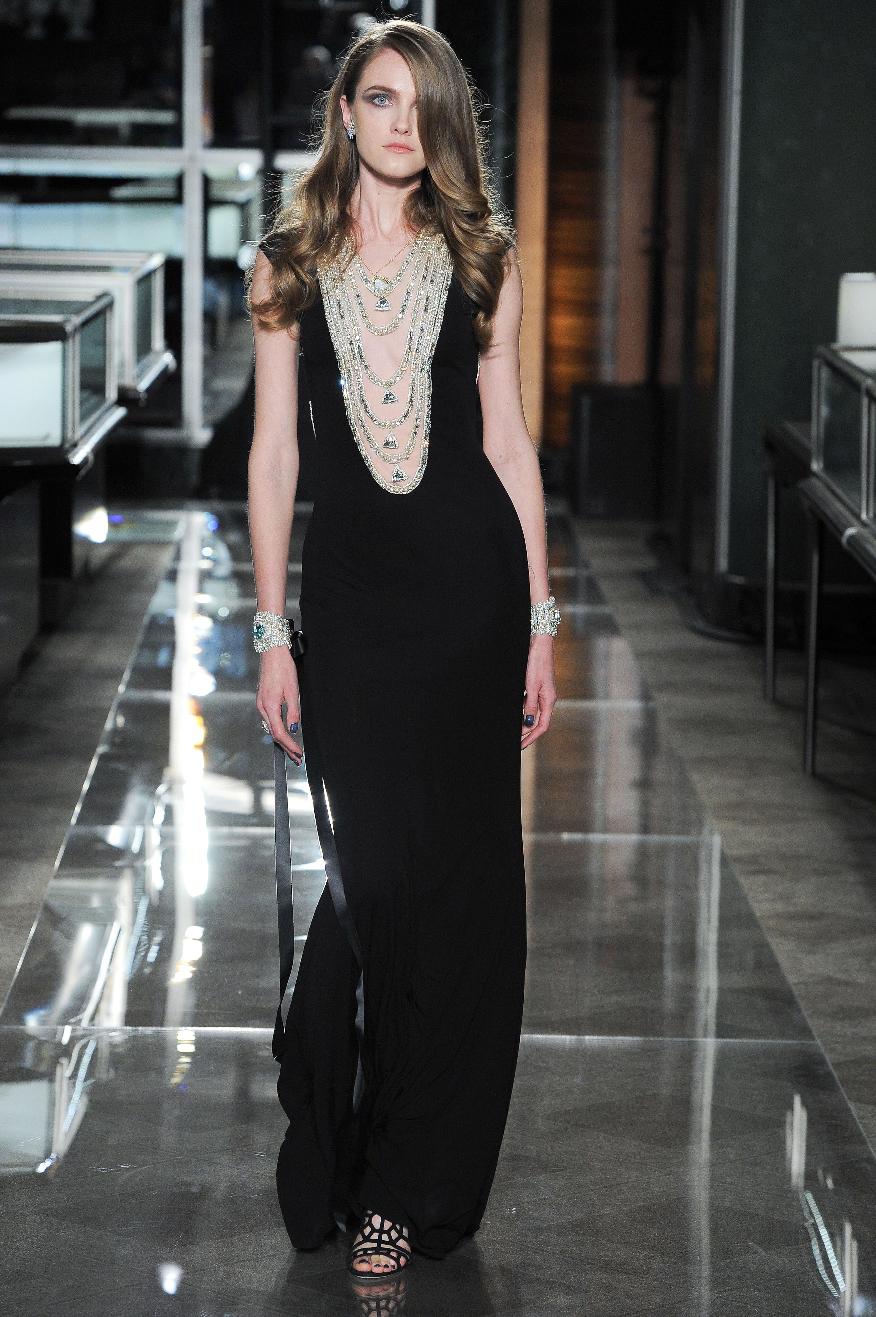 reem acra spring 2018 black wedding dress with scoop neckline