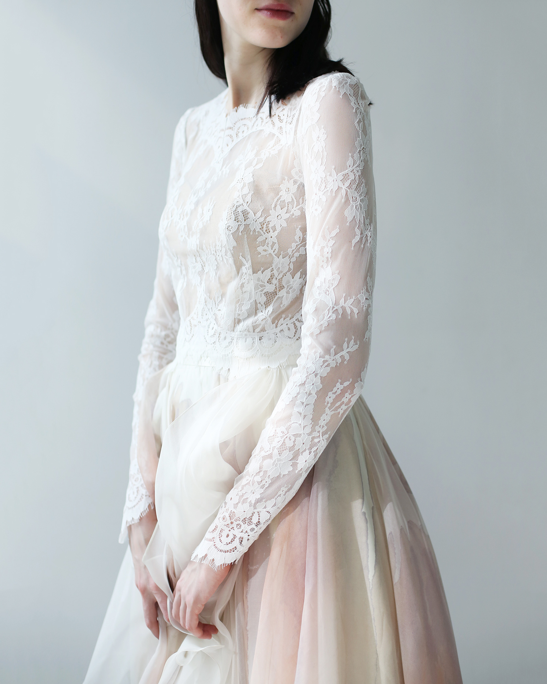 high neck lace leanne marshall wedding dress spring2018