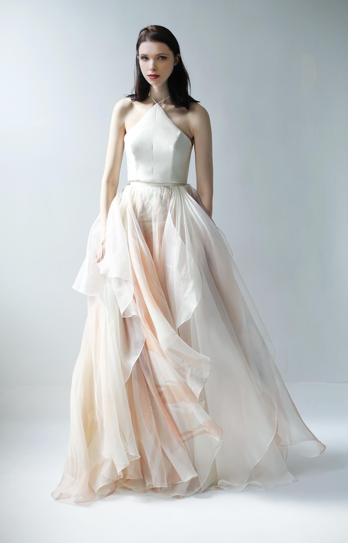 high neck ball gown leanne marshall wedding dress spring2018