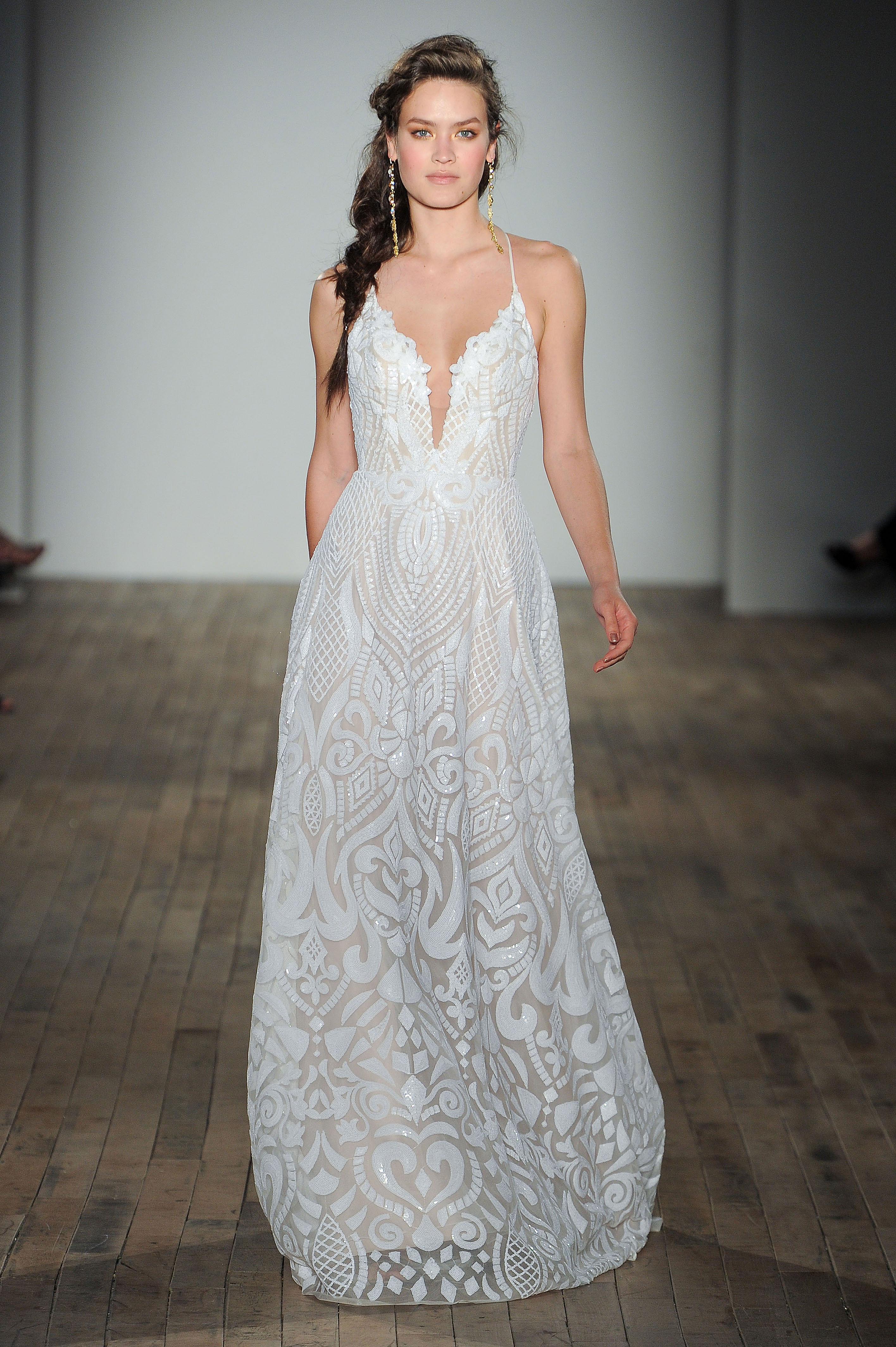 blush by hayley paige spaghetti strap wedding dress spring 2018
