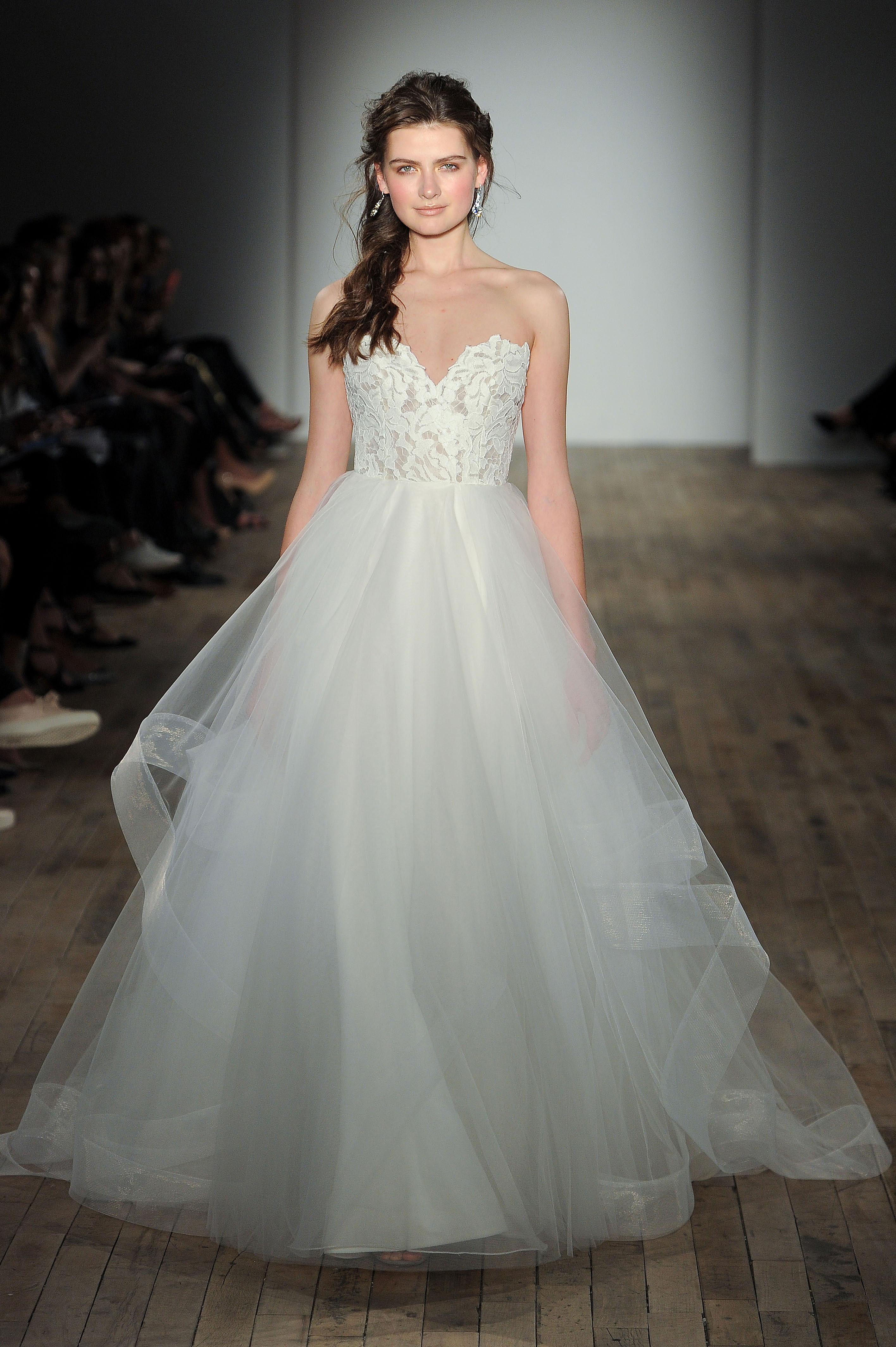 blush by hayley paige v-neck wedding dress spring 2018