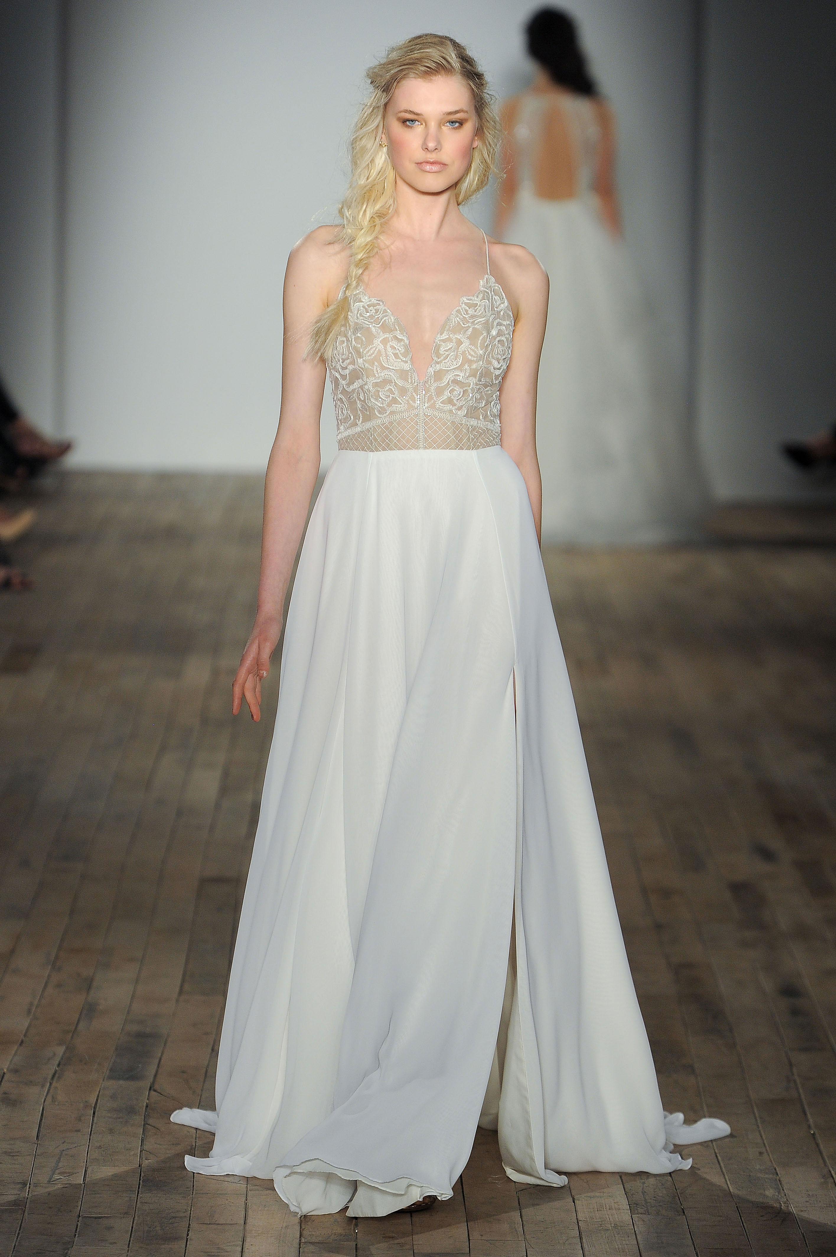 blush by hayley paige v-neck spaghetti strap wedding dress spring 2018
