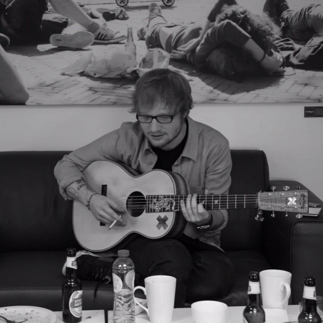Ed Sheeran Playing the Guitar