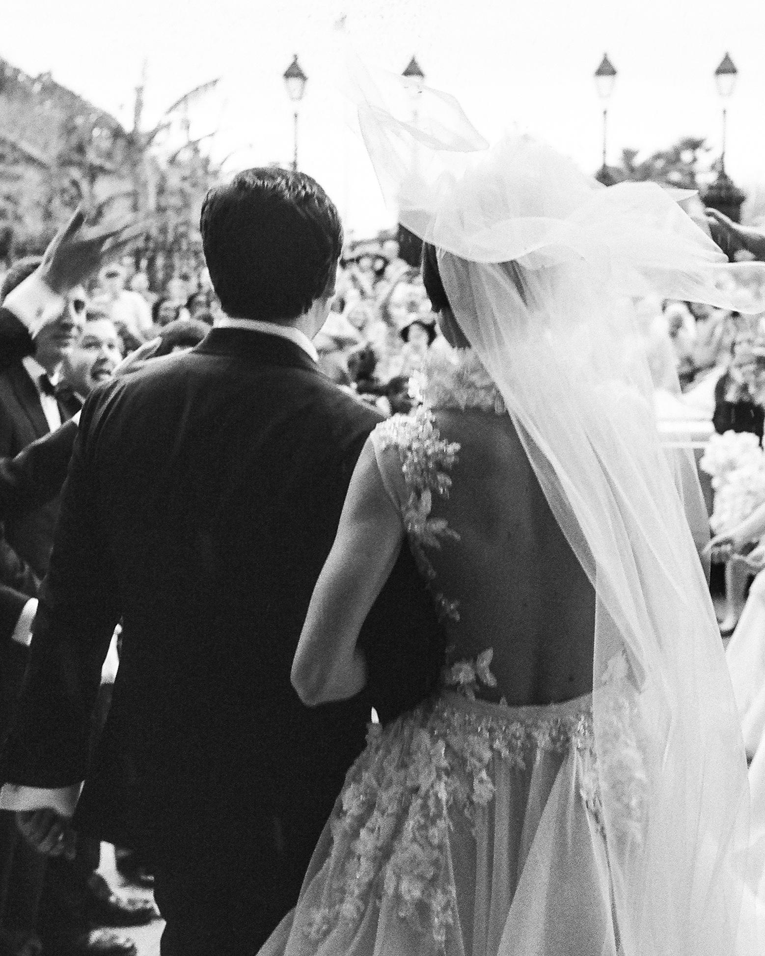 haylie brad wedding married exit