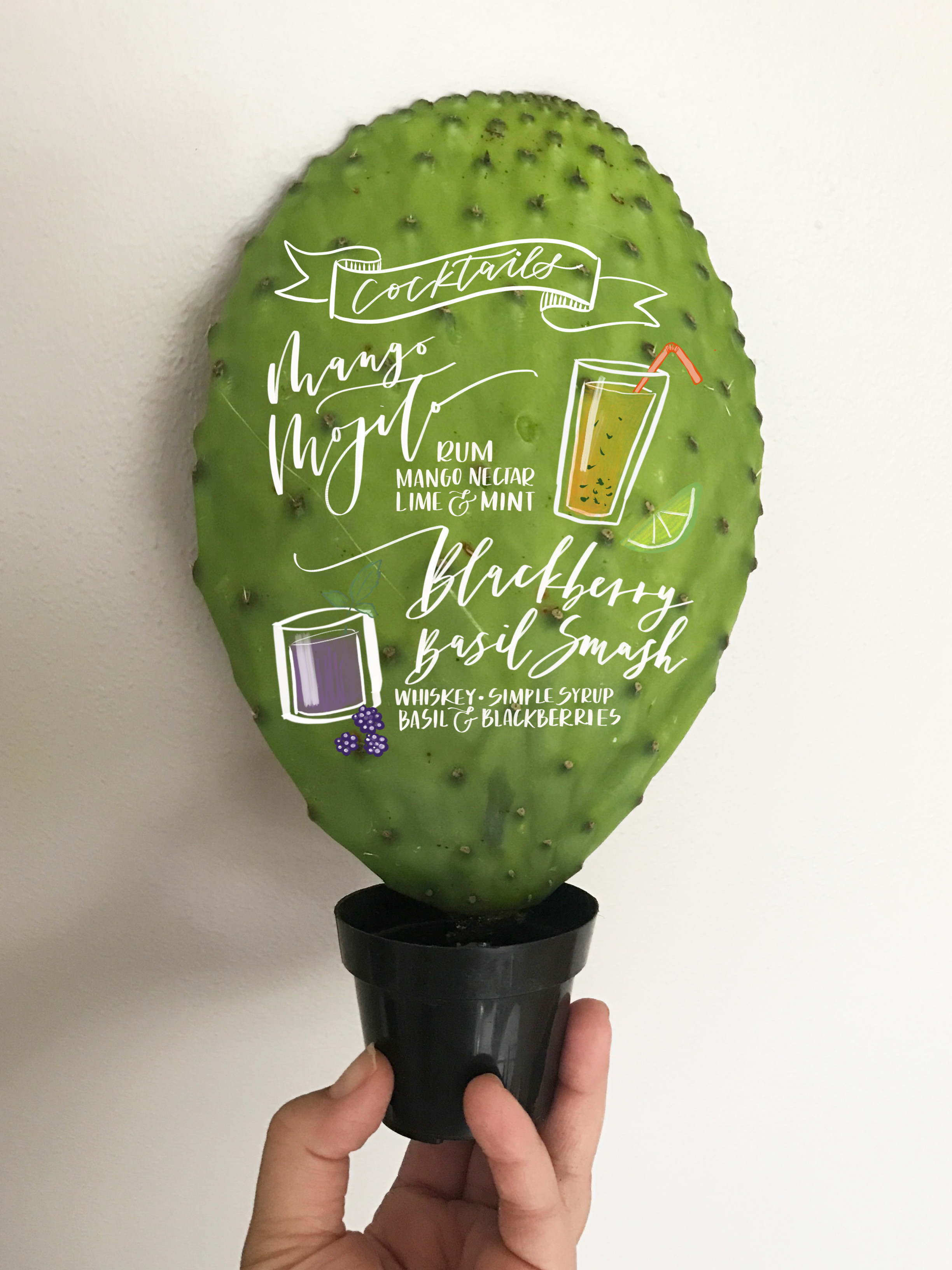 Cactus Cocktail Sign