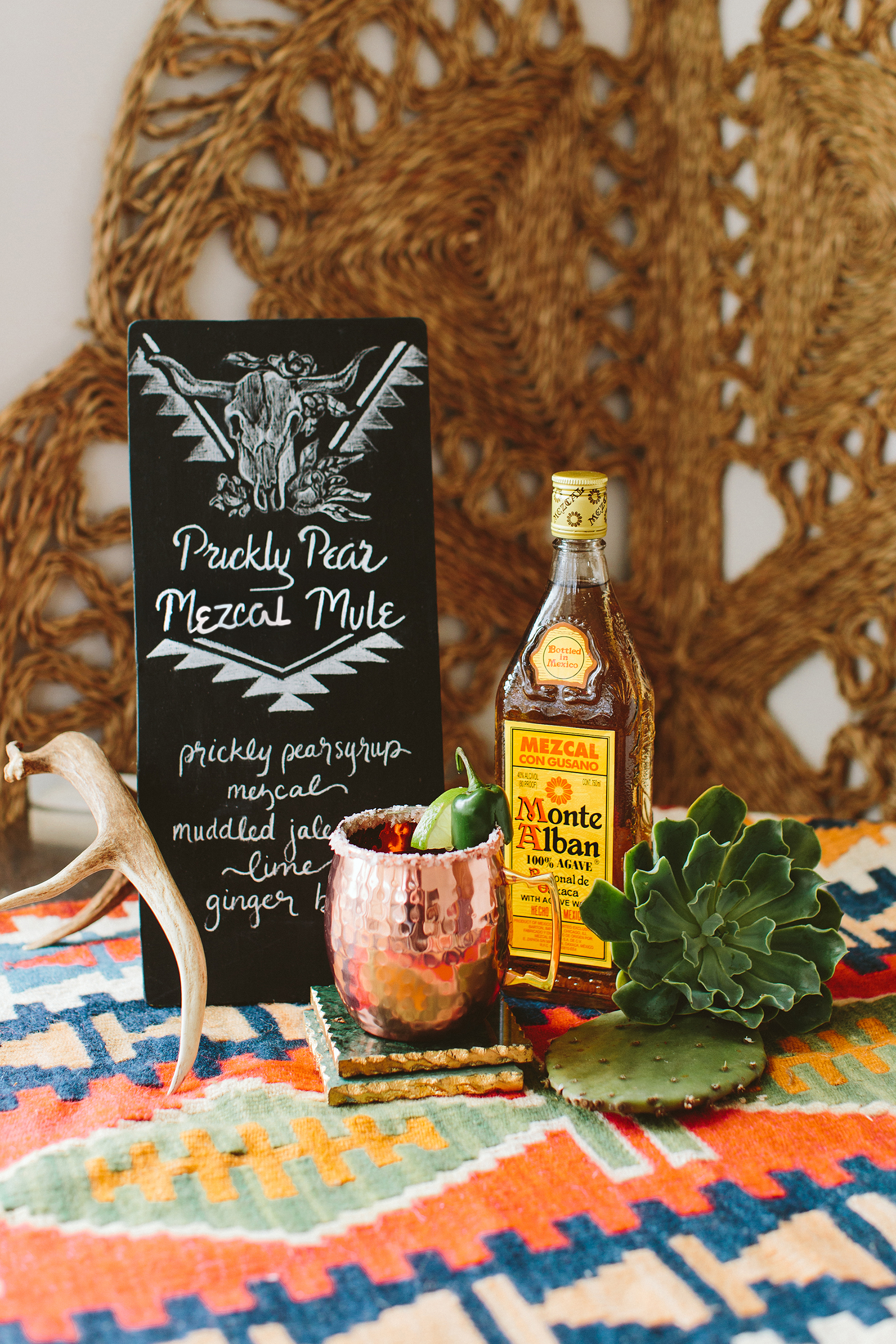 Signature Cocktail Made with Cactus