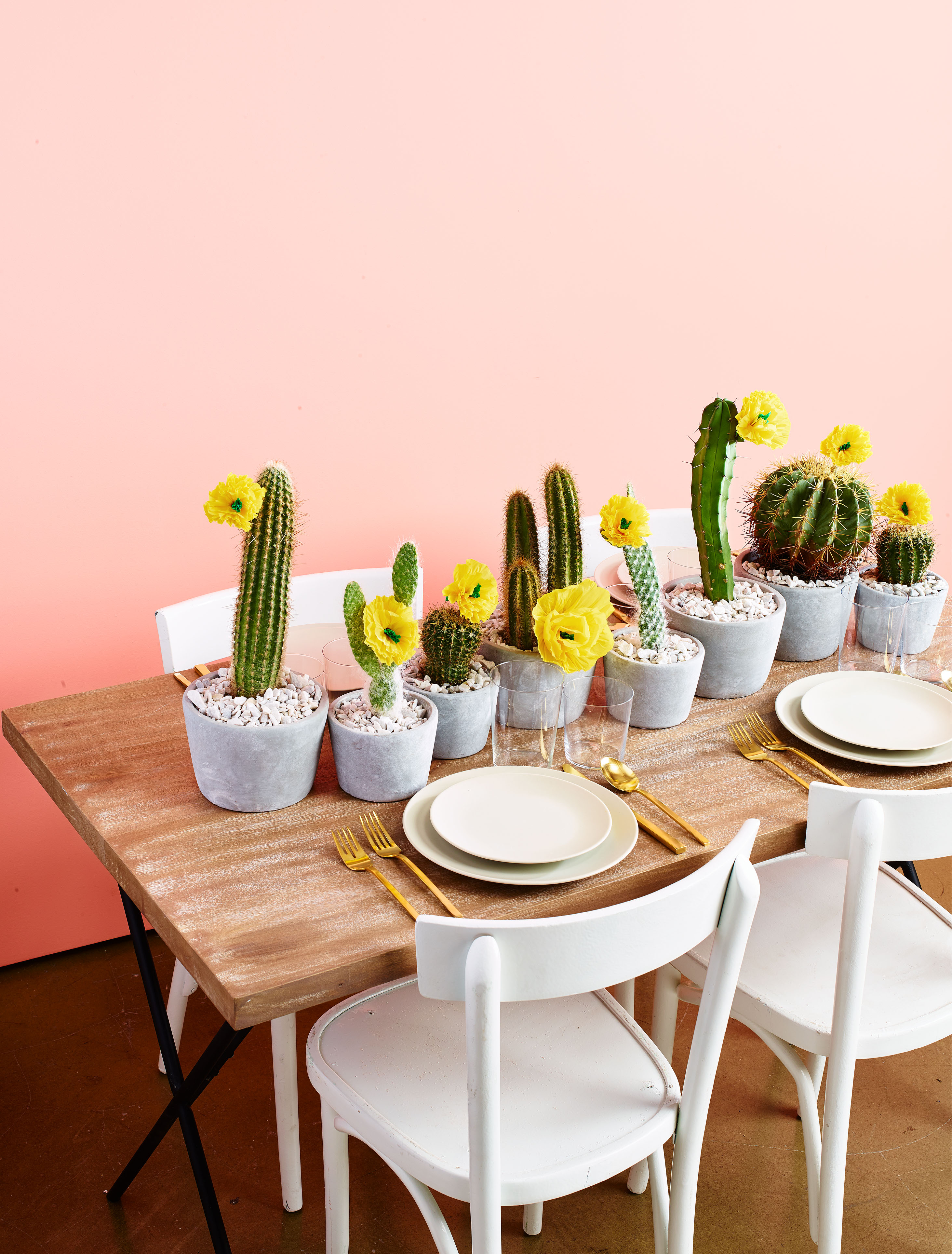 Colorful Cactus Table Runner