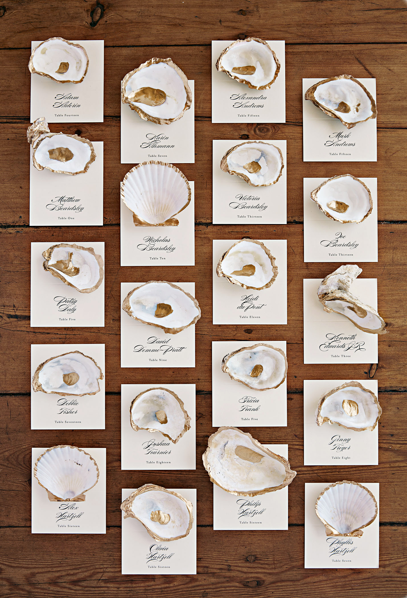 wedding party escort cards
